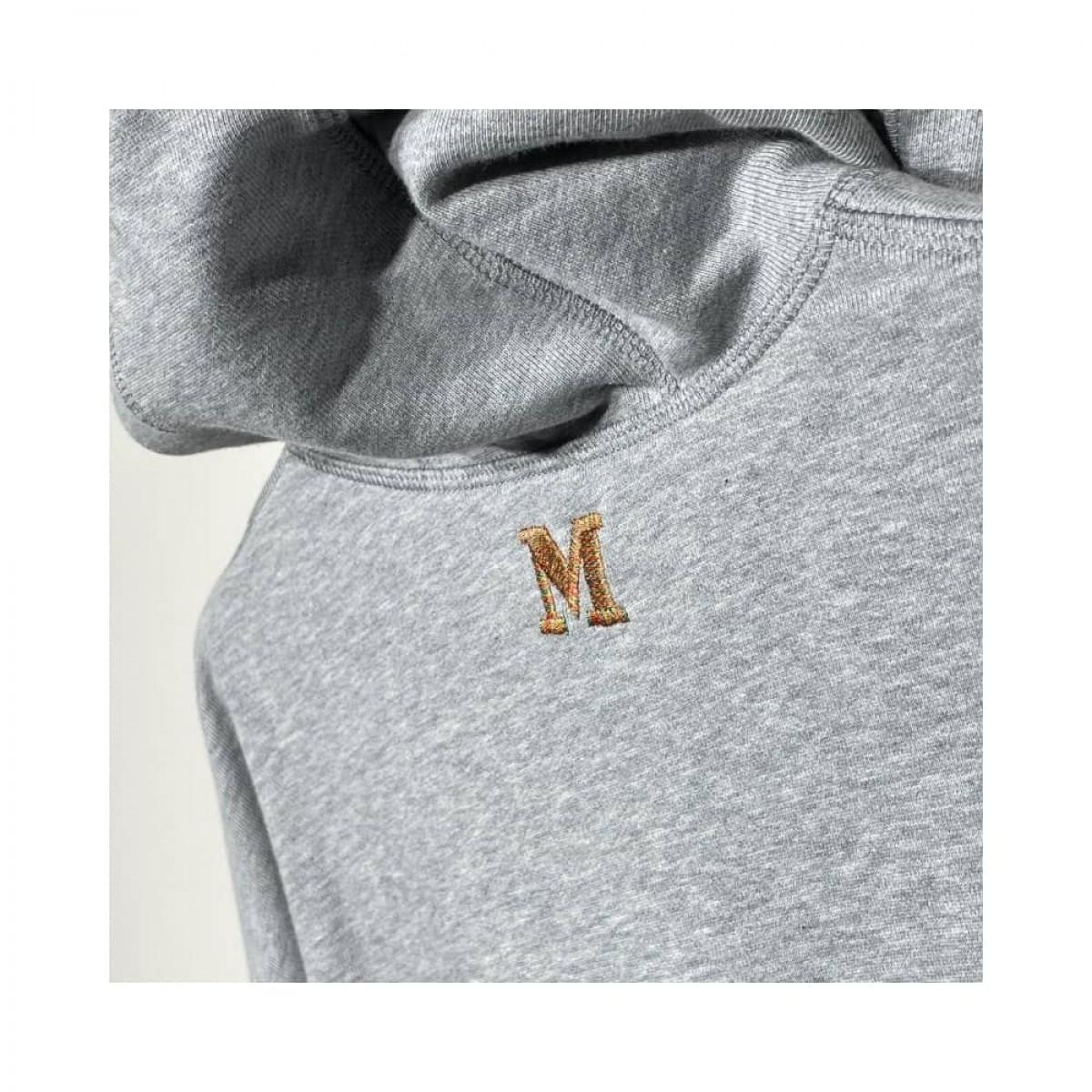 m missoni hætte sweat - grey melange - logo detalje