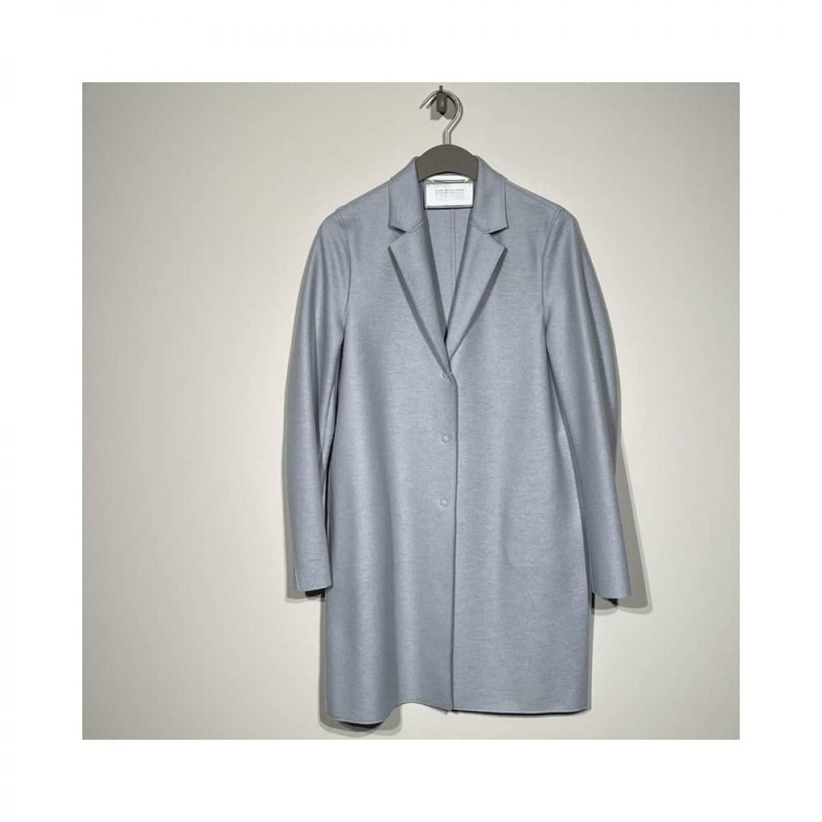 cocoon coat - light blue