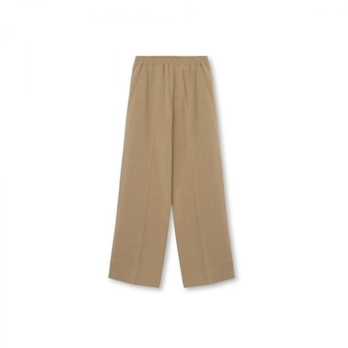 line hør bukser - sand - front