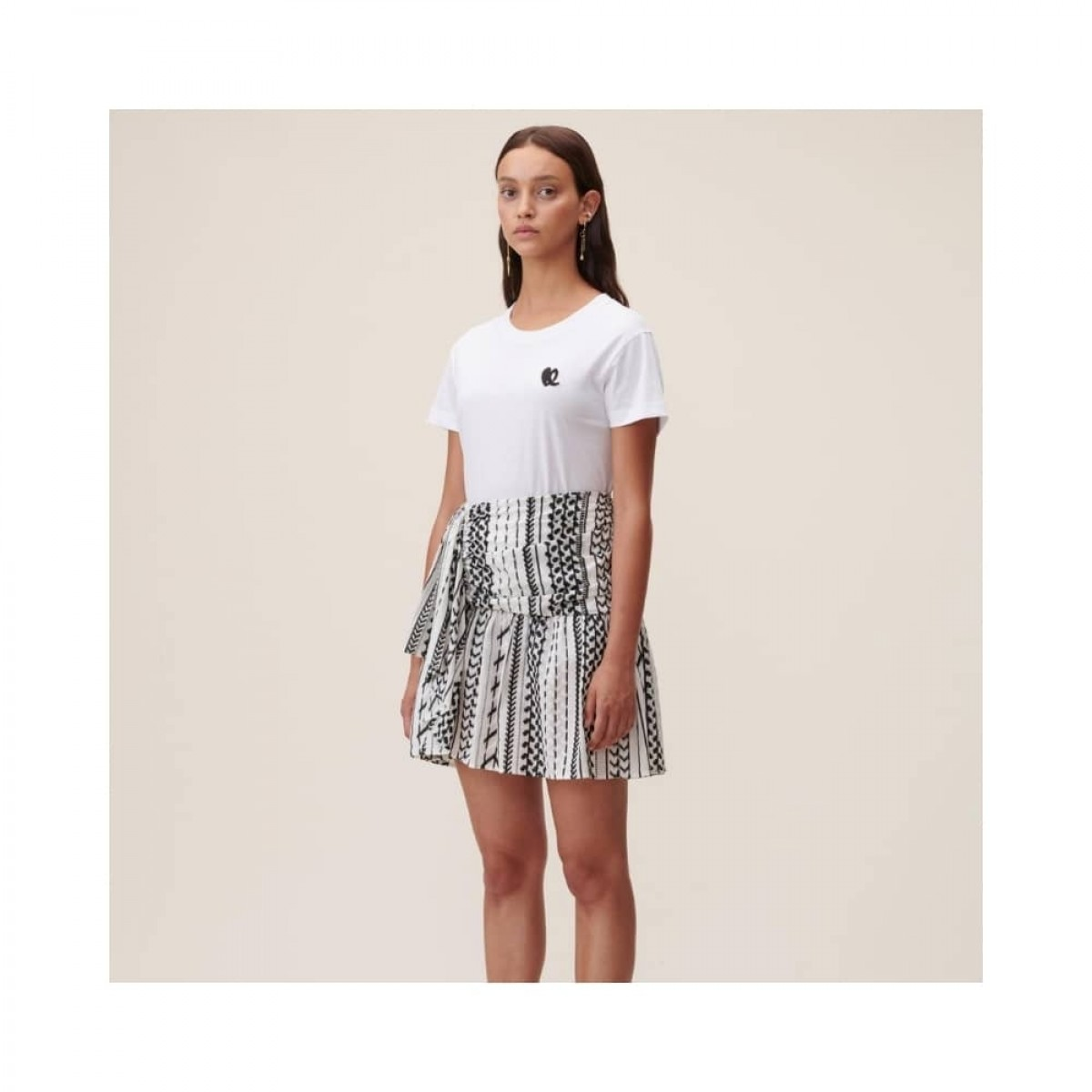 cara heart t-shirt - white