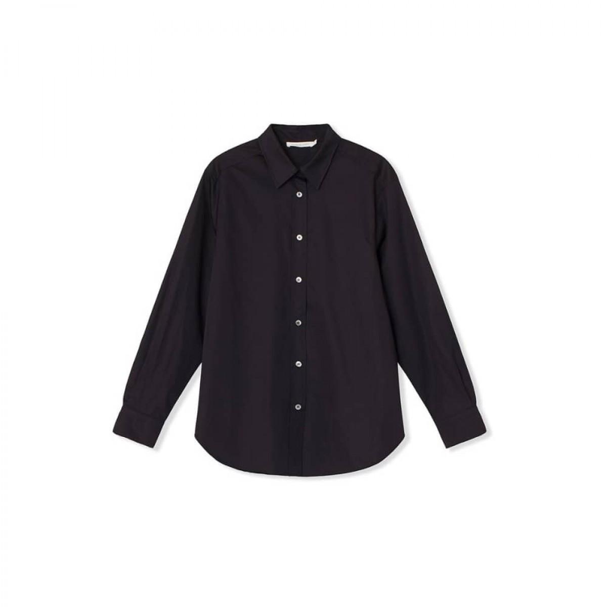 cora skjorte - black