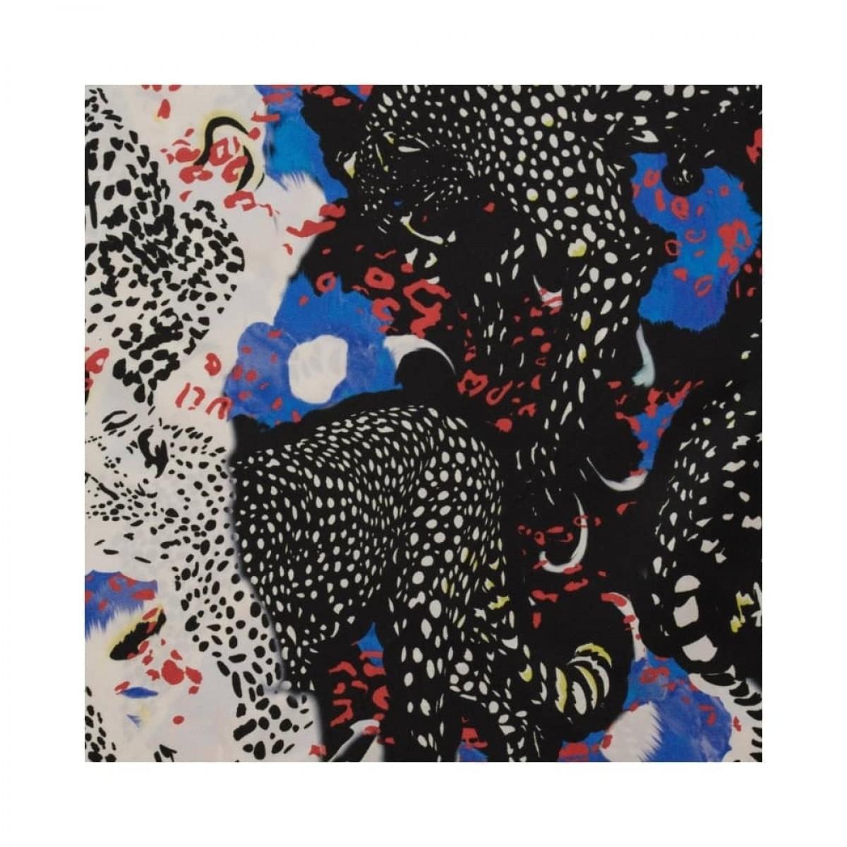 silk triangle cheeta blue m - print