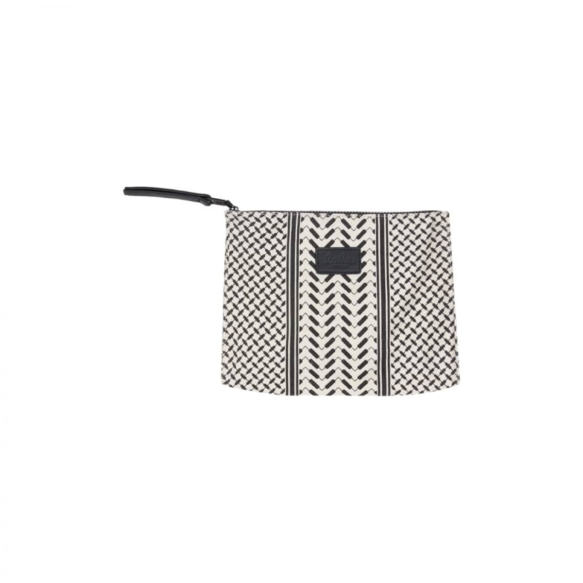 cosmetic bag pili - off white/black - front