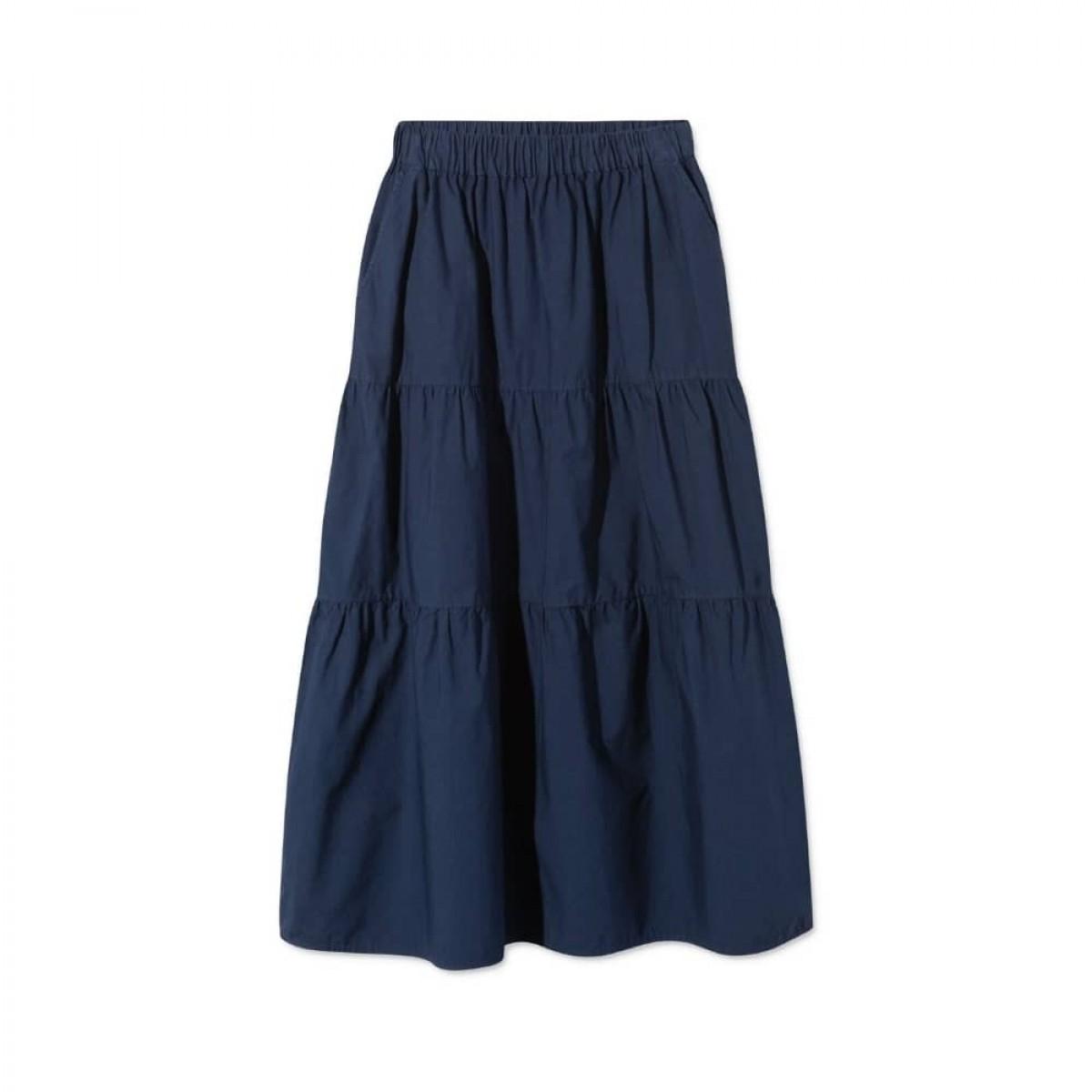paprika nederdel - dark navy - front