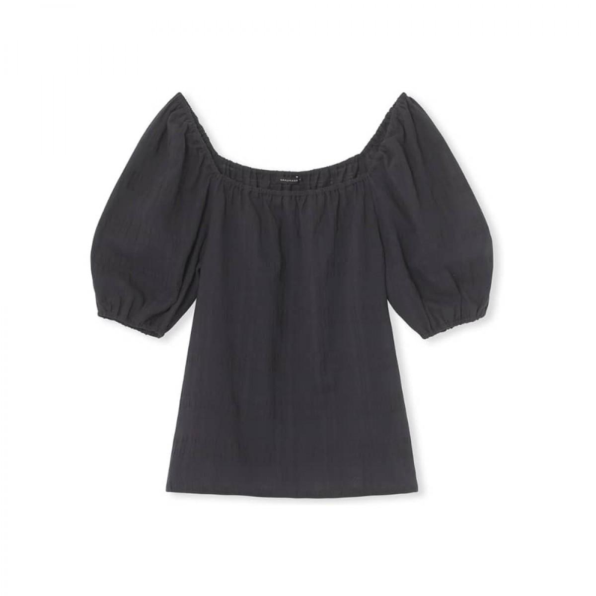 flo shirt top - black - front