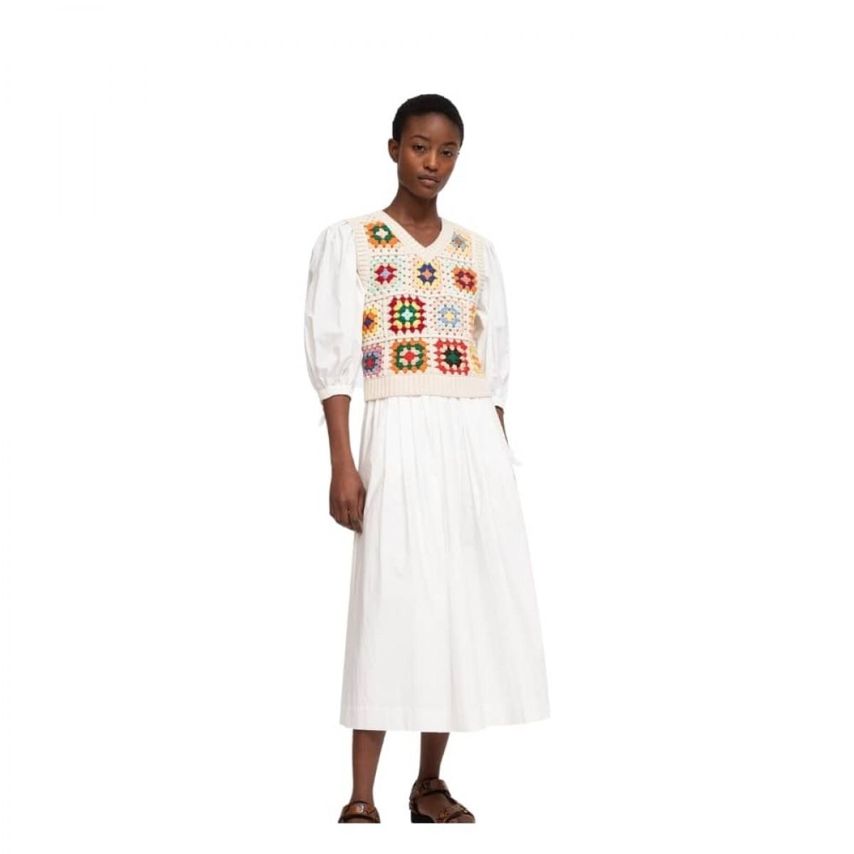 gabriela crochet kjole - multi color