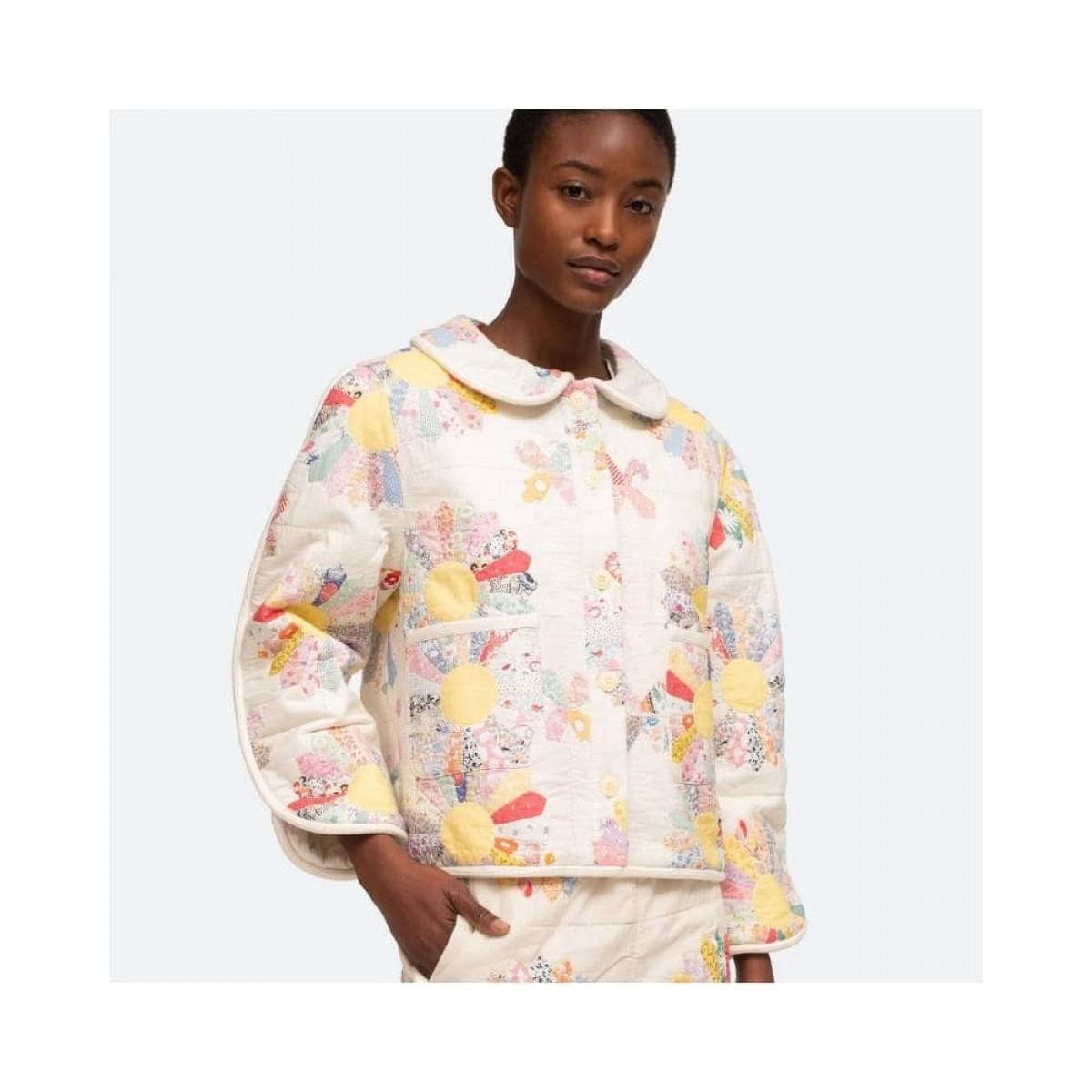 linden jacket - multi ecru