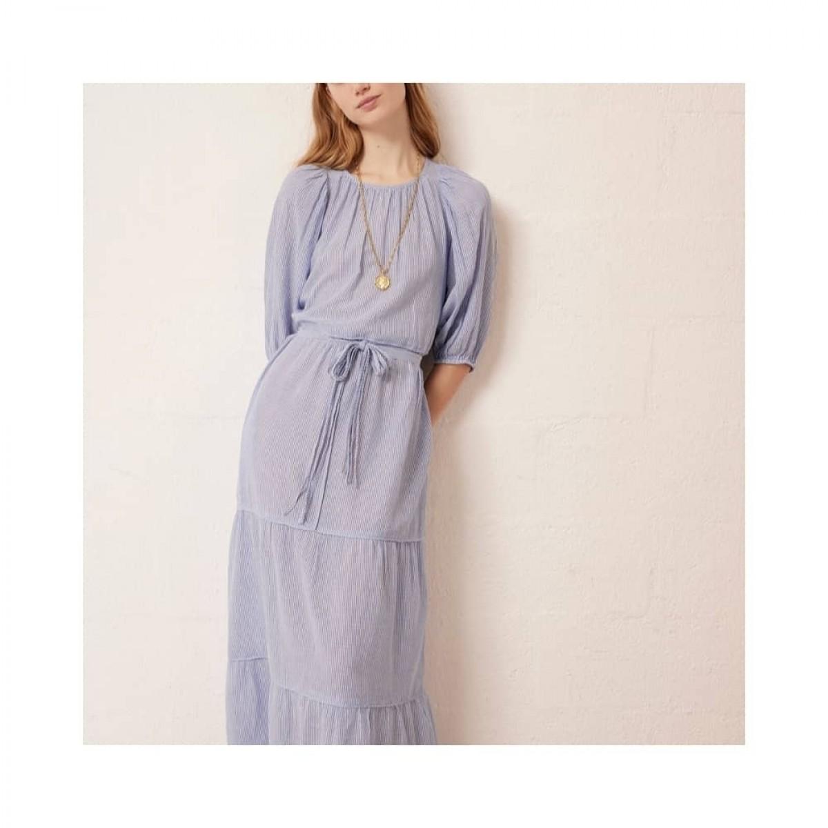 reinilda kjole - blue - model front