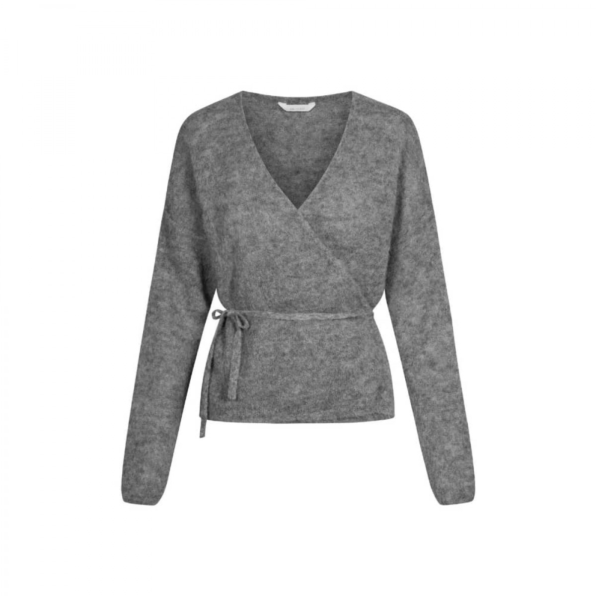 columbine cardigan - dark grey - front