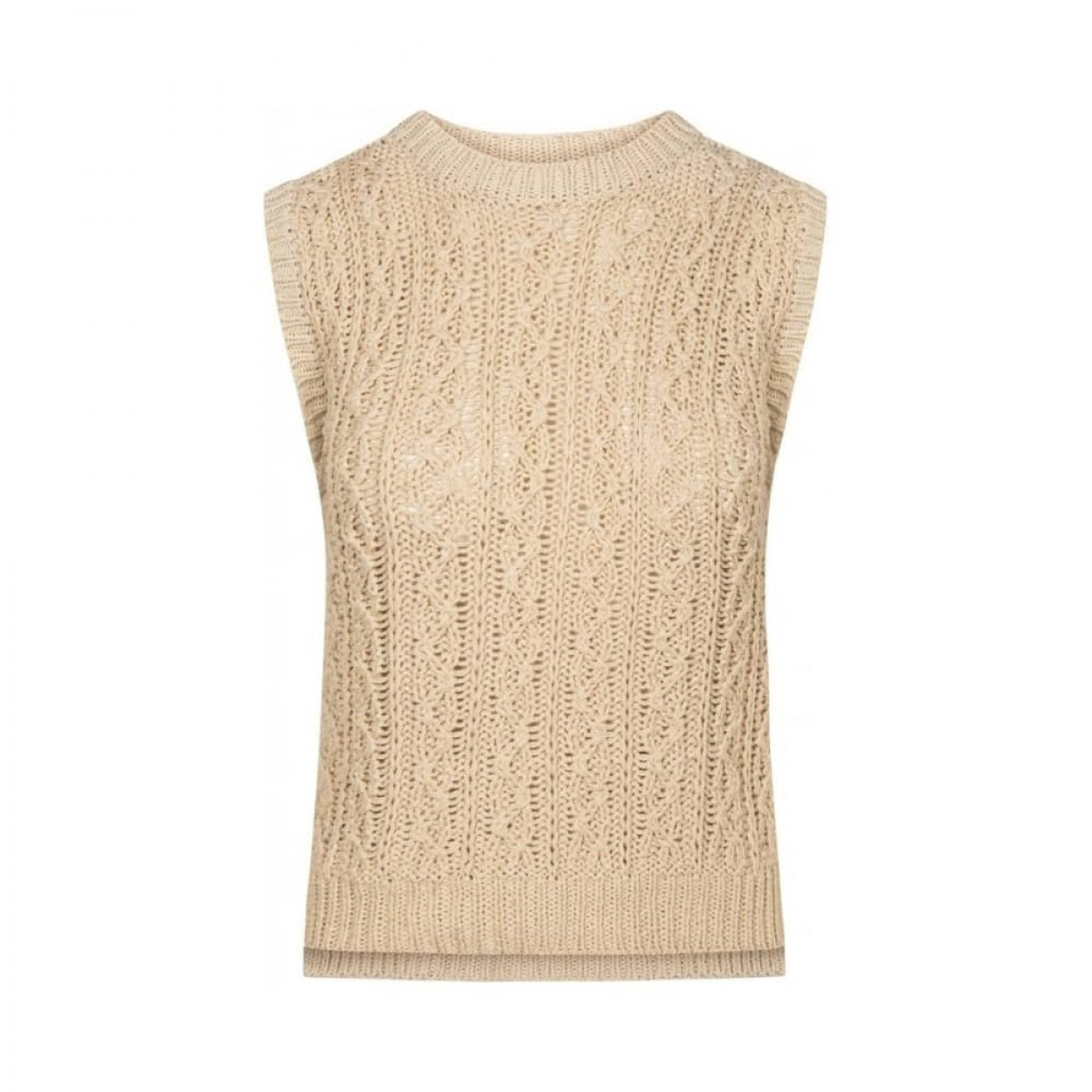 othilia vest - off white - front