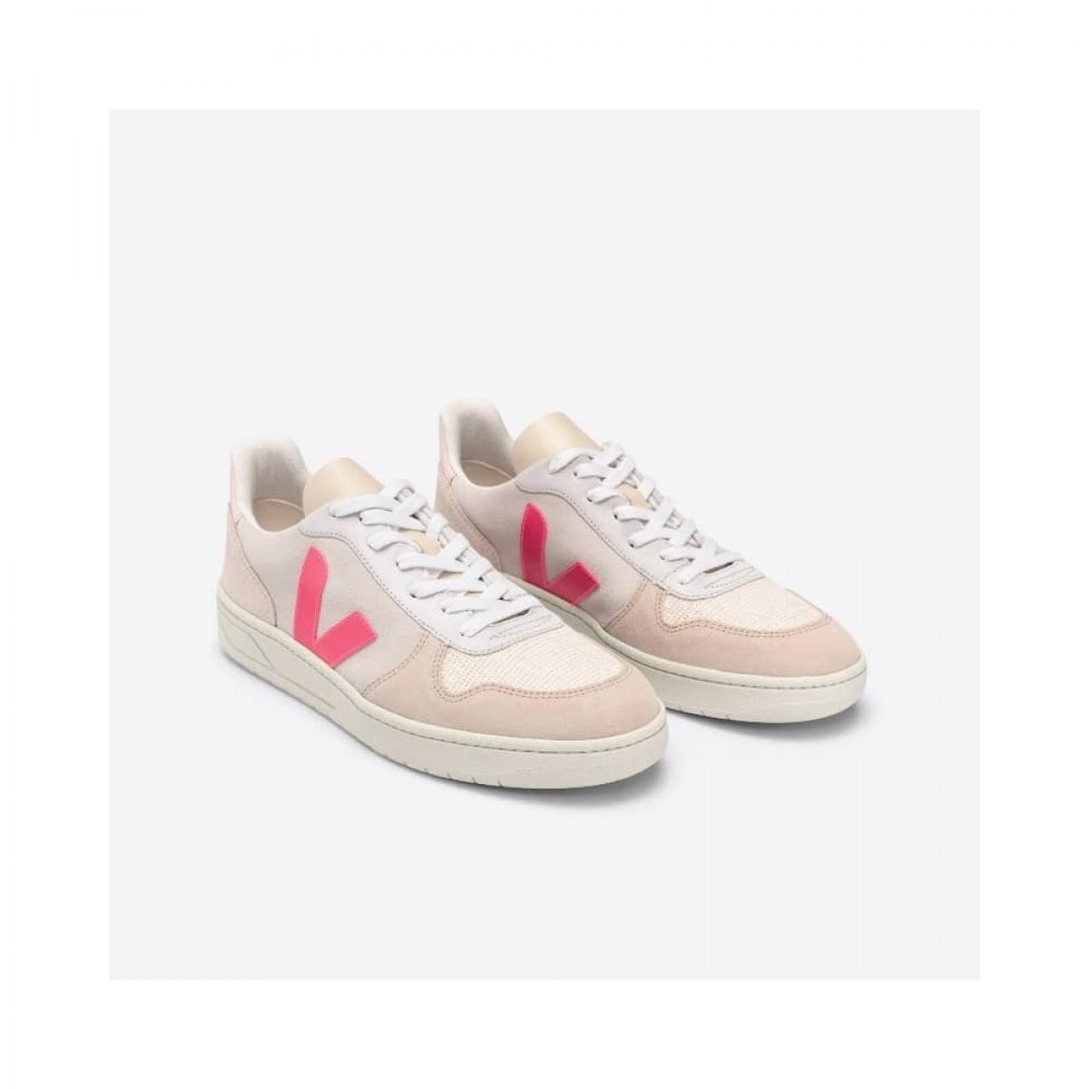 v-10 skind sneakers multico natural rose-fluo