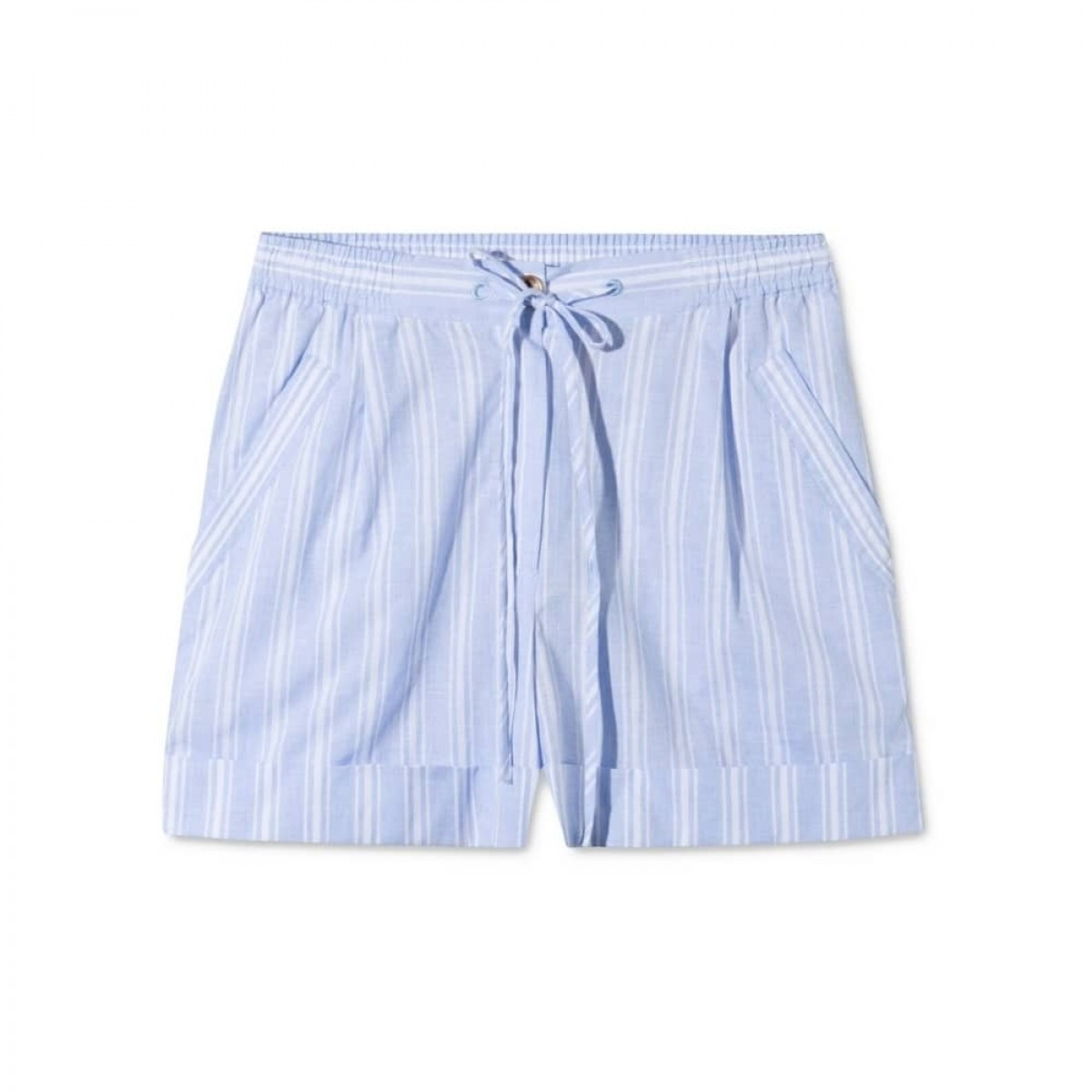 peony shorts - blue/white stripe