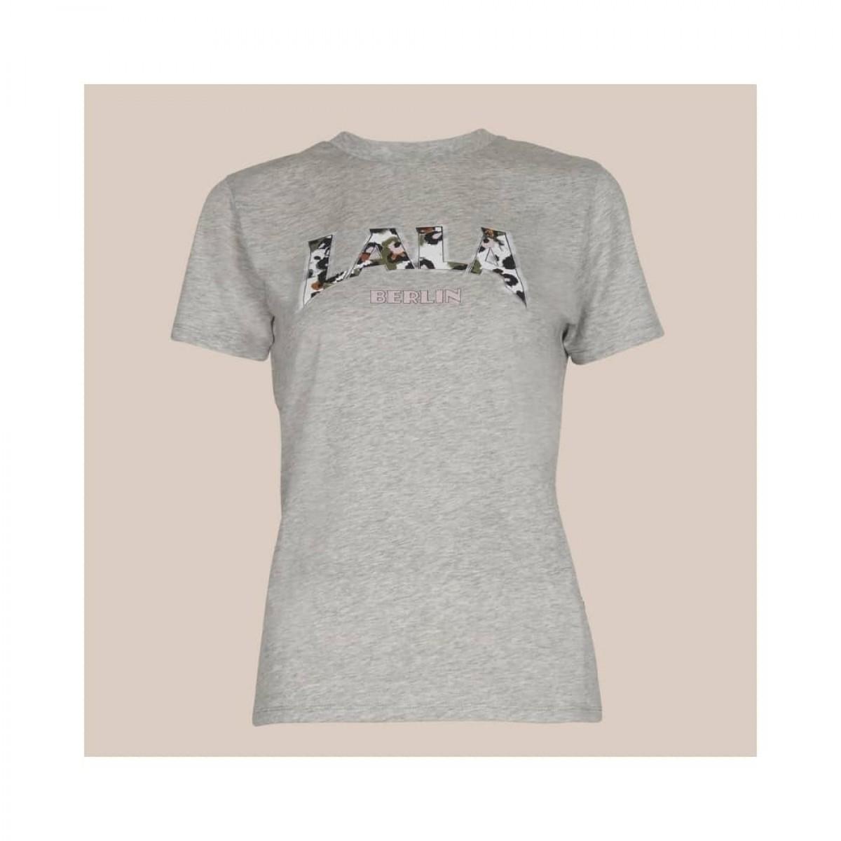 reda lala leo t-shirt - grey melange - front