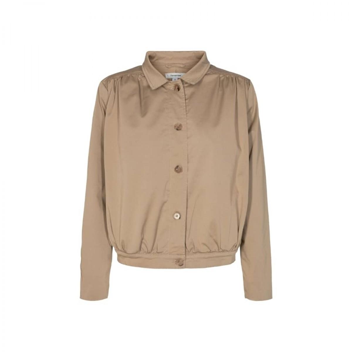 greta cropped jacket - camel - front