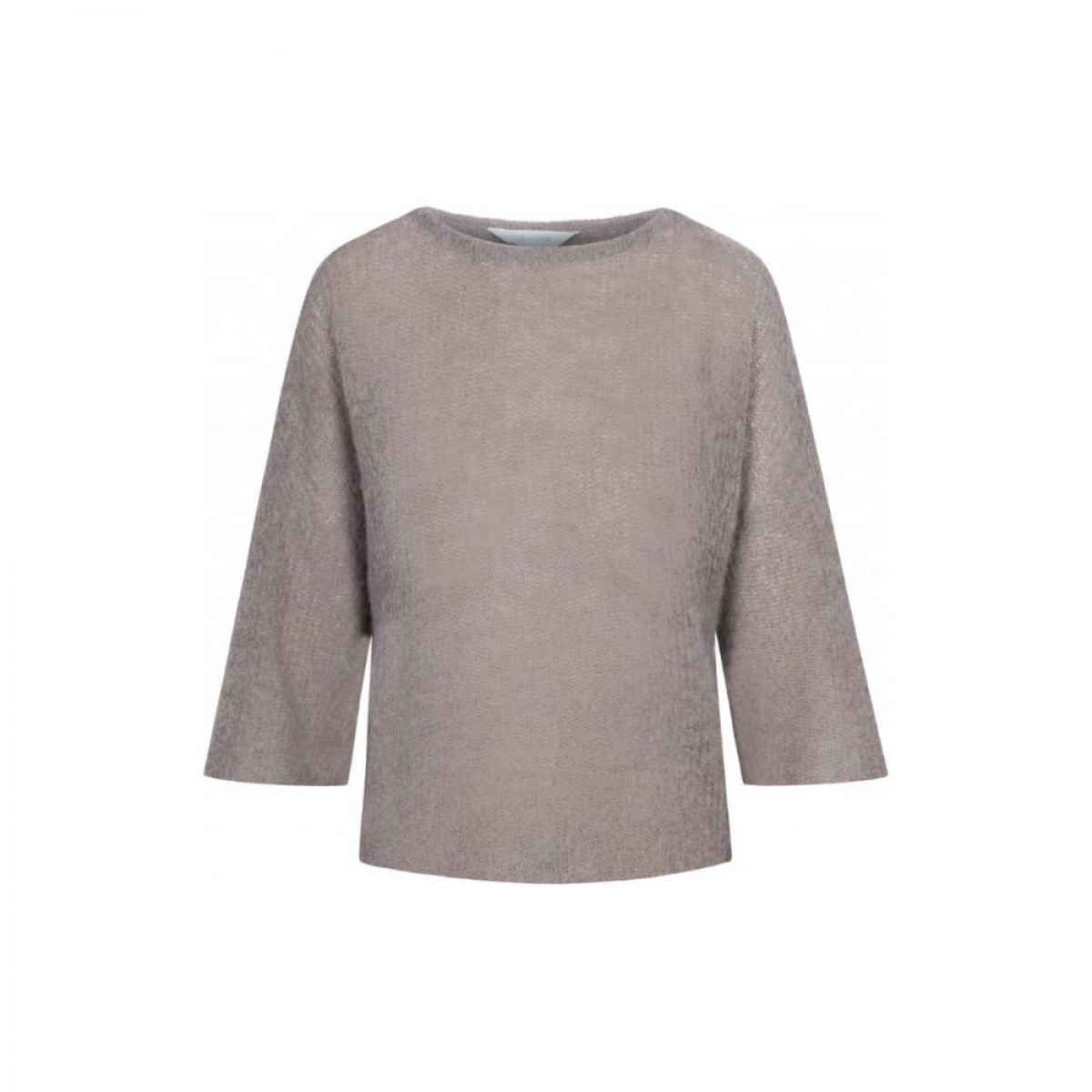 edda strik bluse - hazy brown