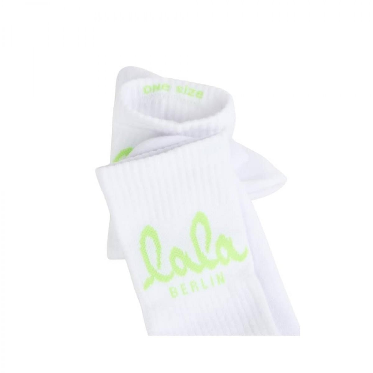 sanny socks logo - neon green - logo