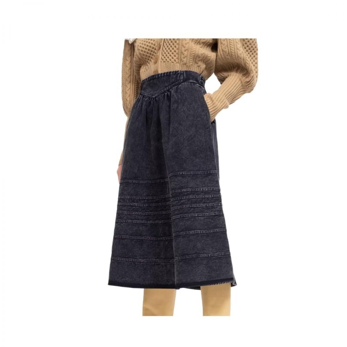 maura denim skirt - navy - fra siden