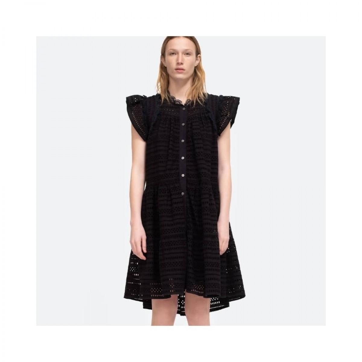 lina tunis kjole - black
