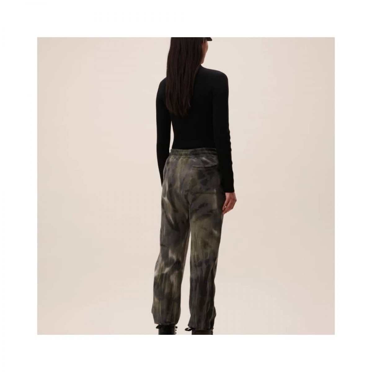 yetka sweat bukser - olive tiedye - model bagfra