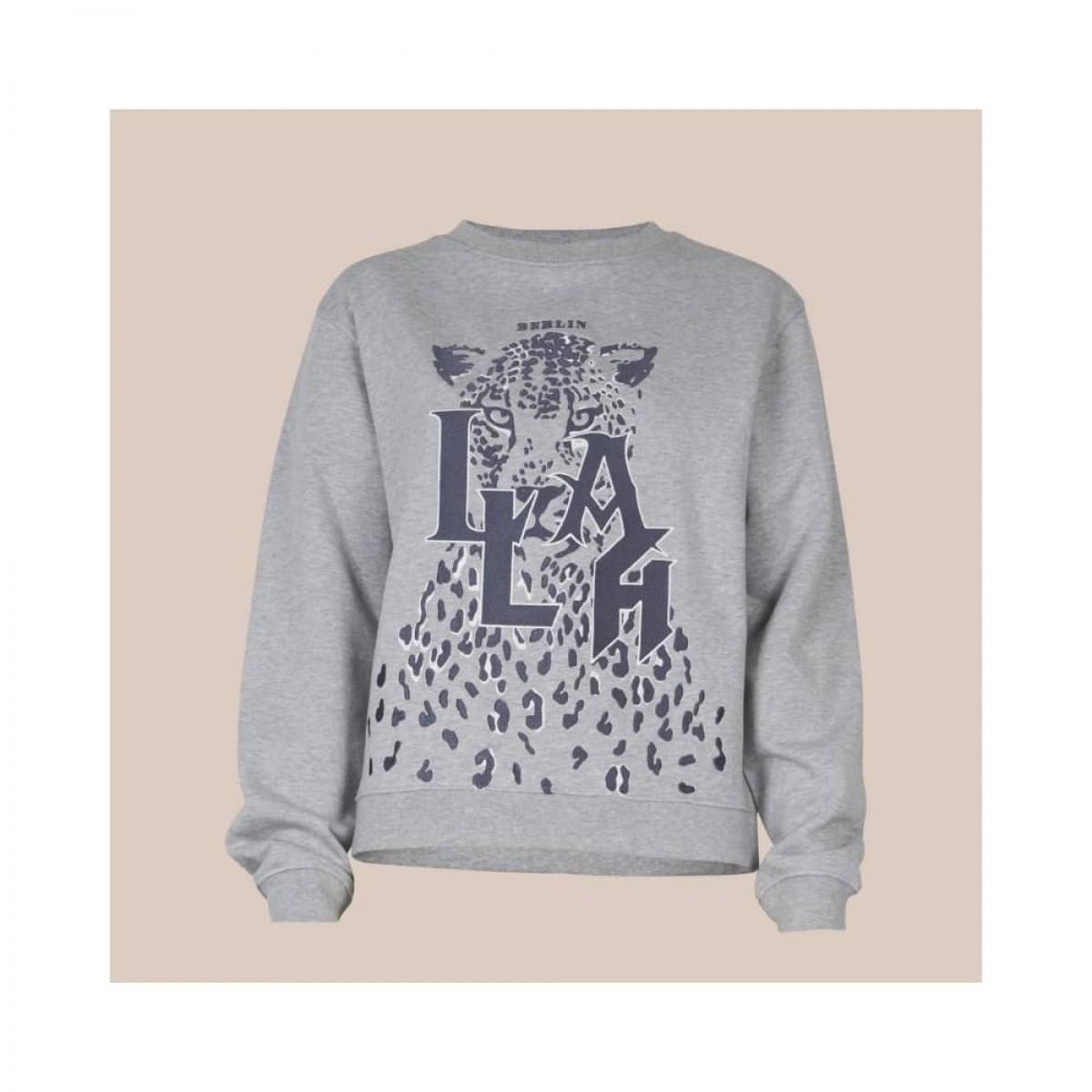 irya leo sweatshirt - grey melange - front