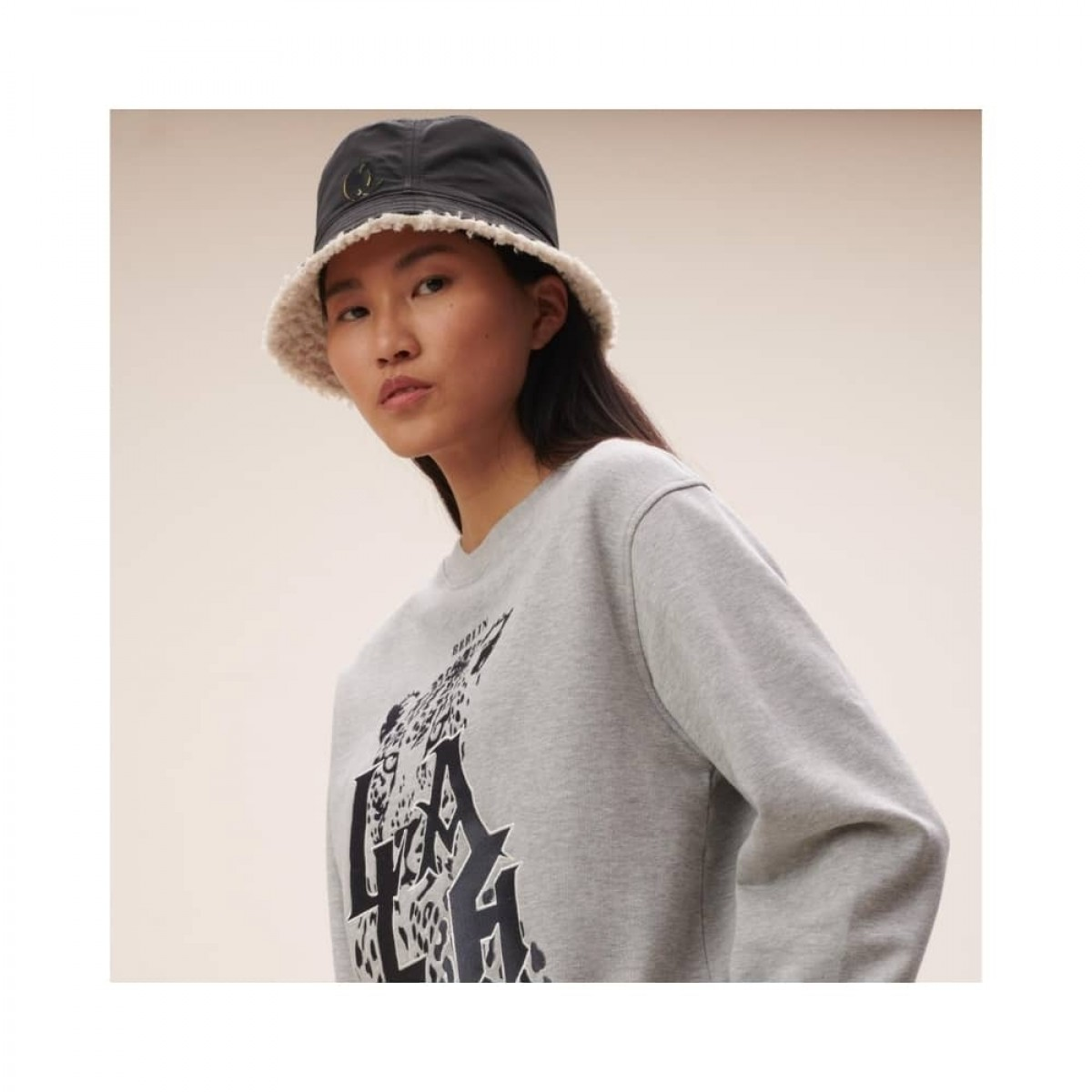 hat alicia reversible - black