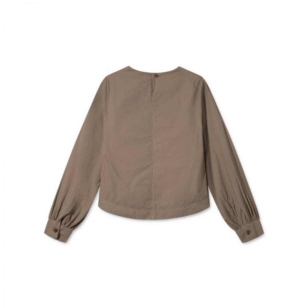 sada skjorte bluse - brown - ryggen