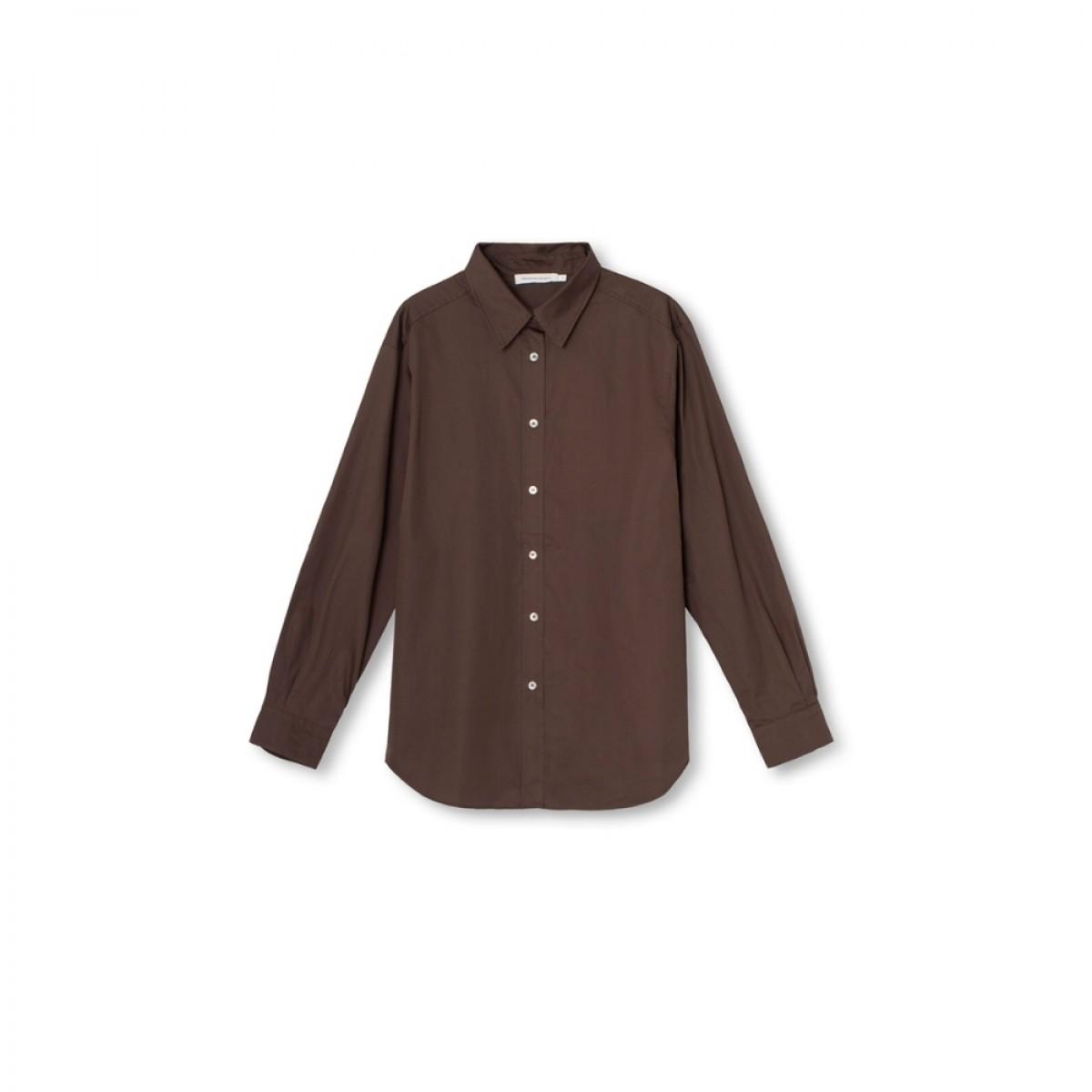 cora shirt - chocolate