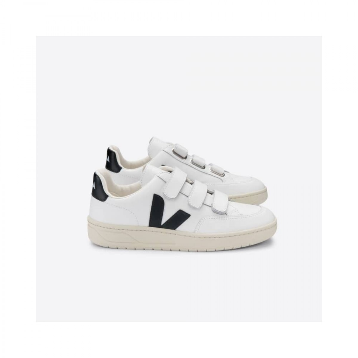 v-lock leather - extra white with black