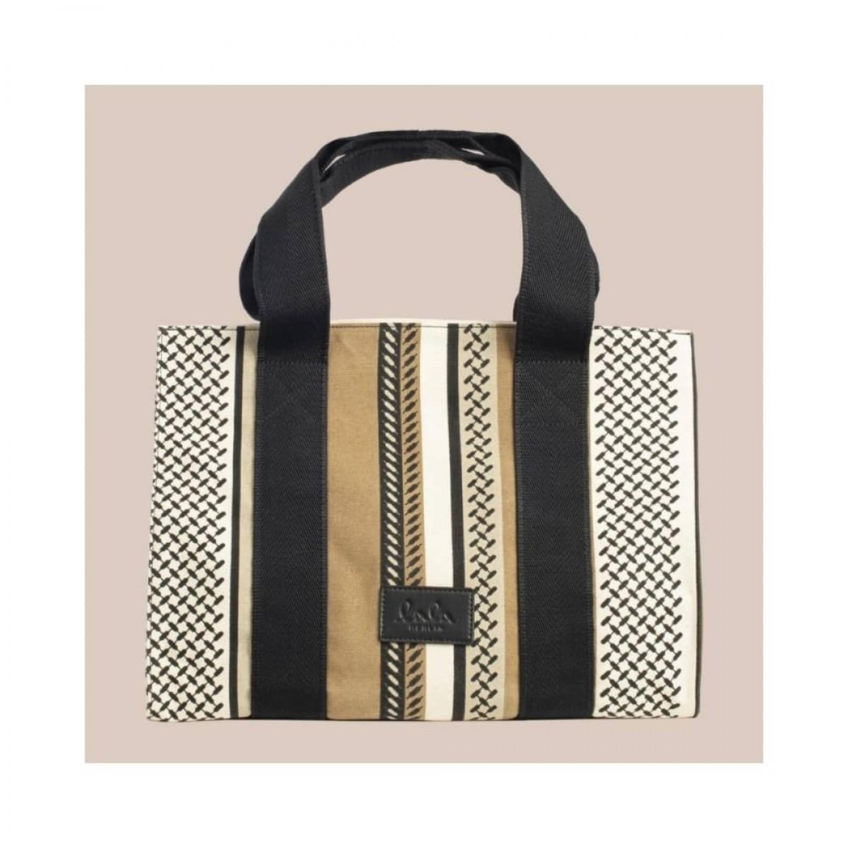 big tote josie bag - kufiya hessian dune - front
