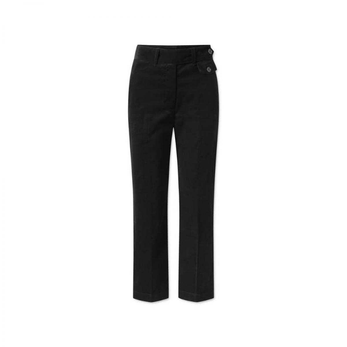 coppola pants - black fløjl - bagfra