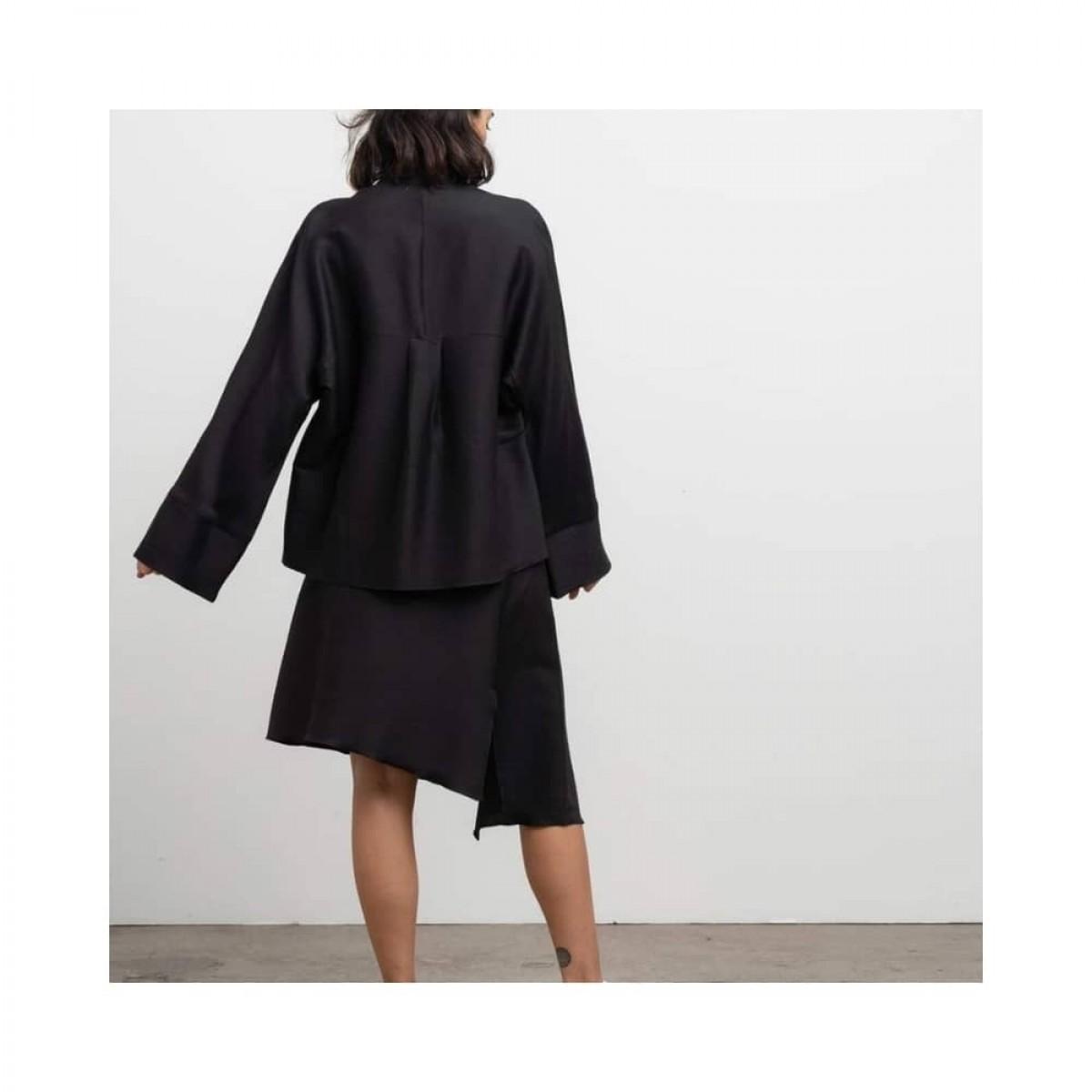 dina wool skirt - black - model ryg