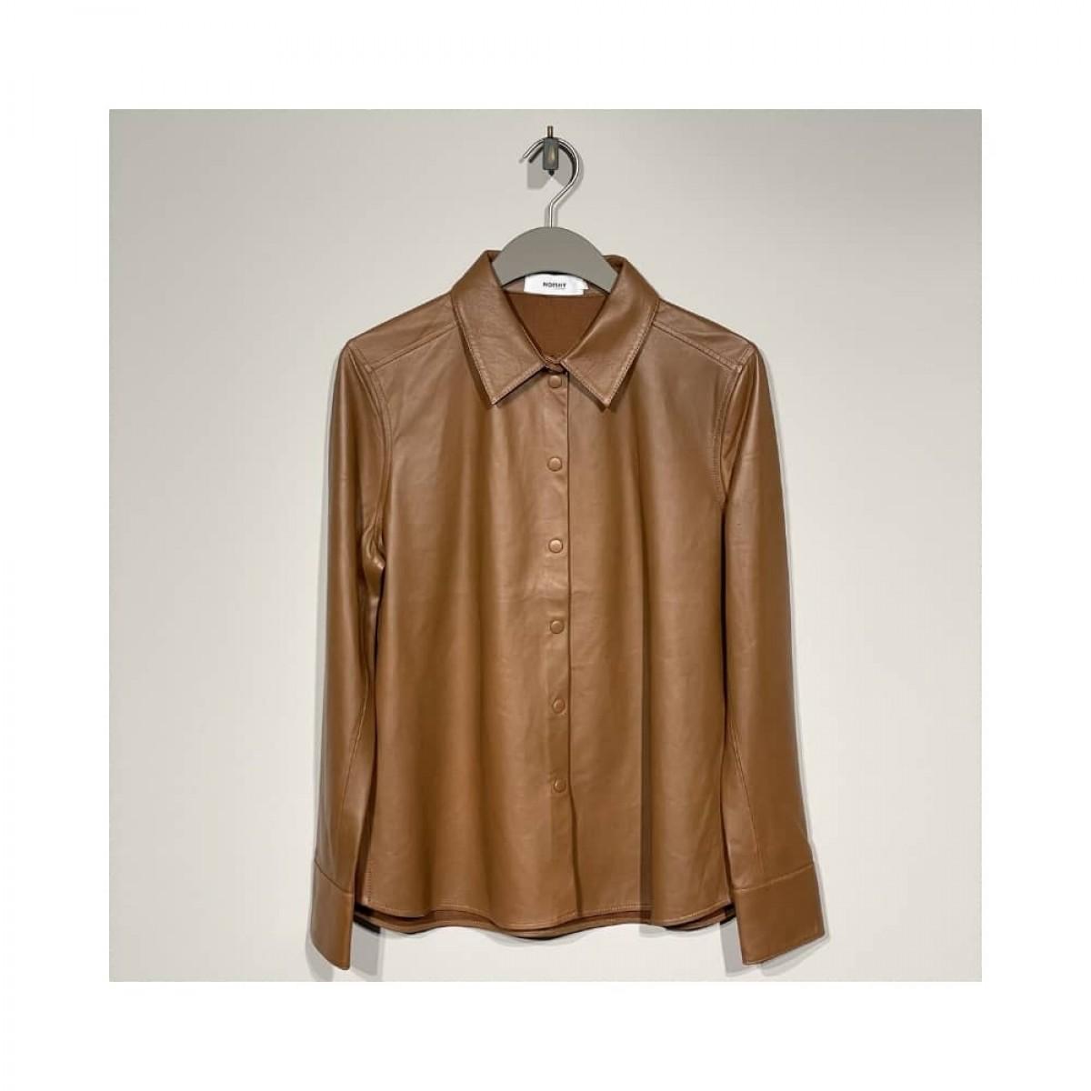 skind skjorte - cognac