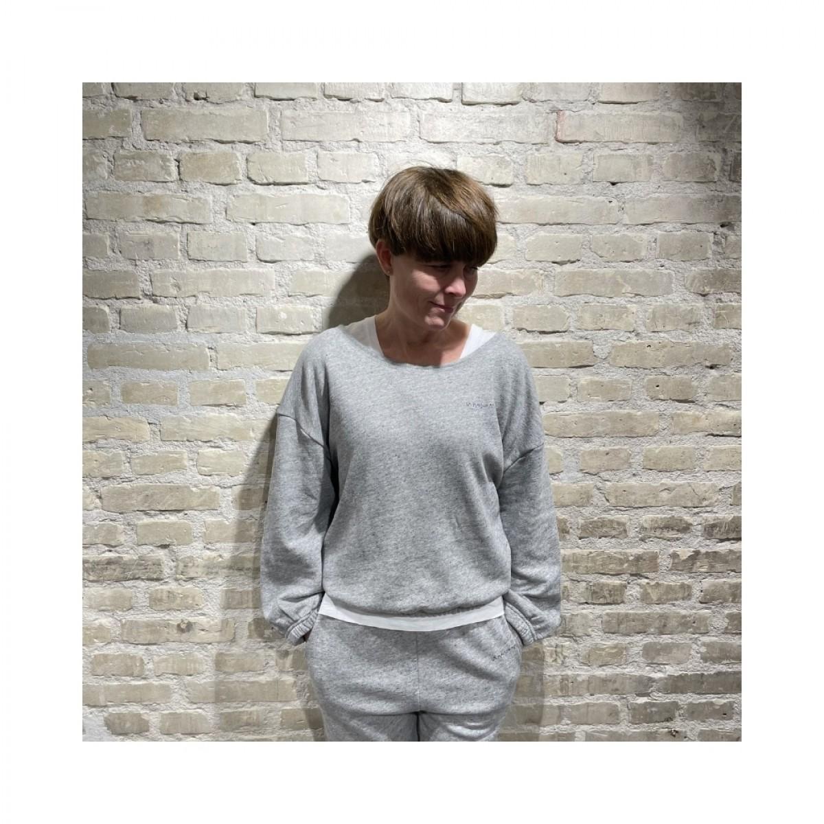 najabay sweat shirt - heather grey - front