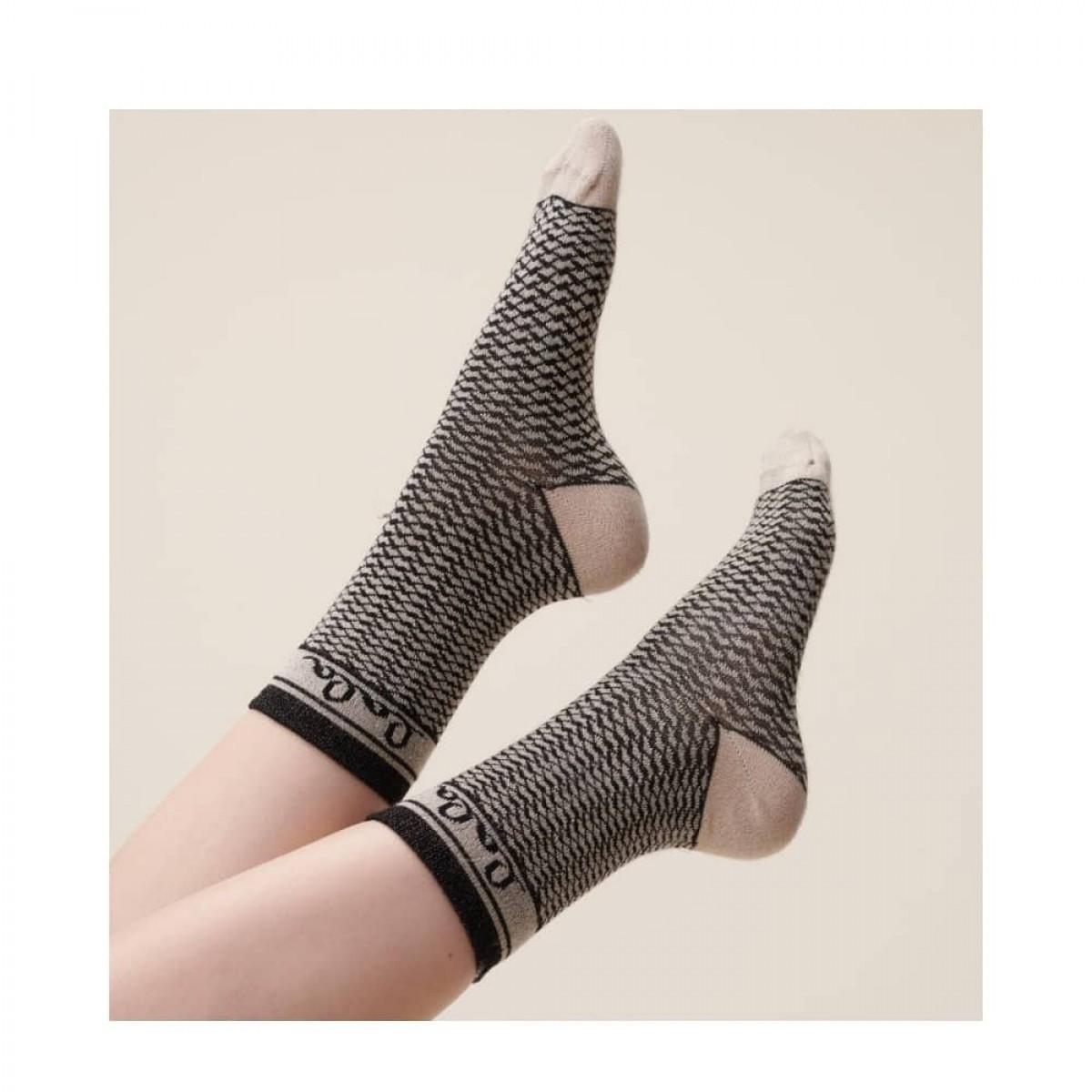 silja socks - camel black kufiya