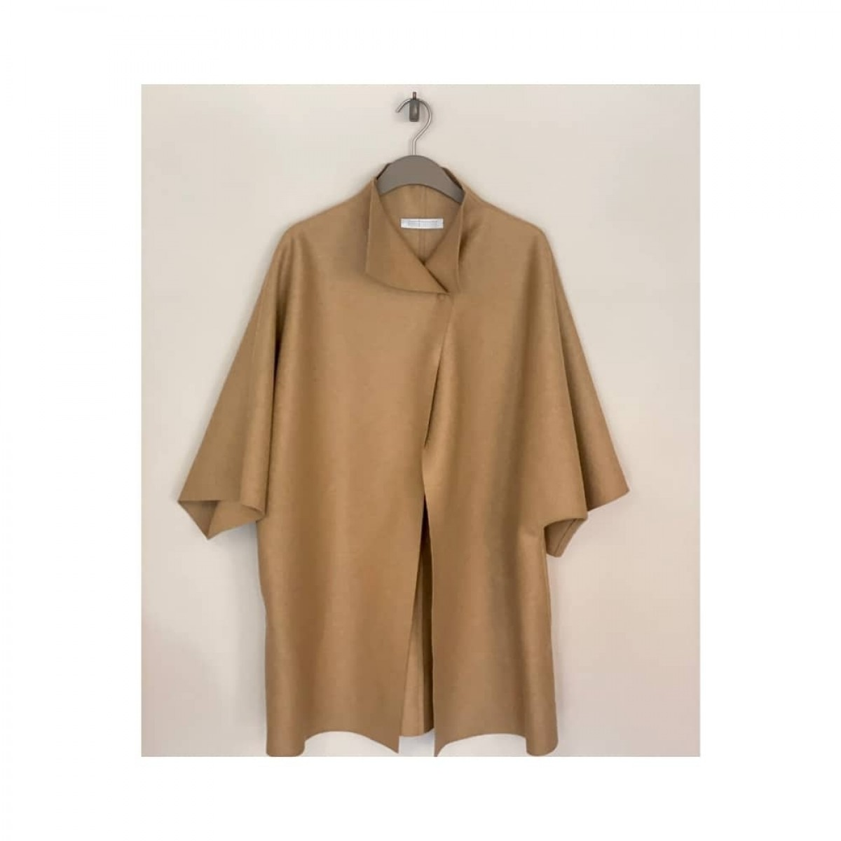 kimono mantle pressed wool - camel