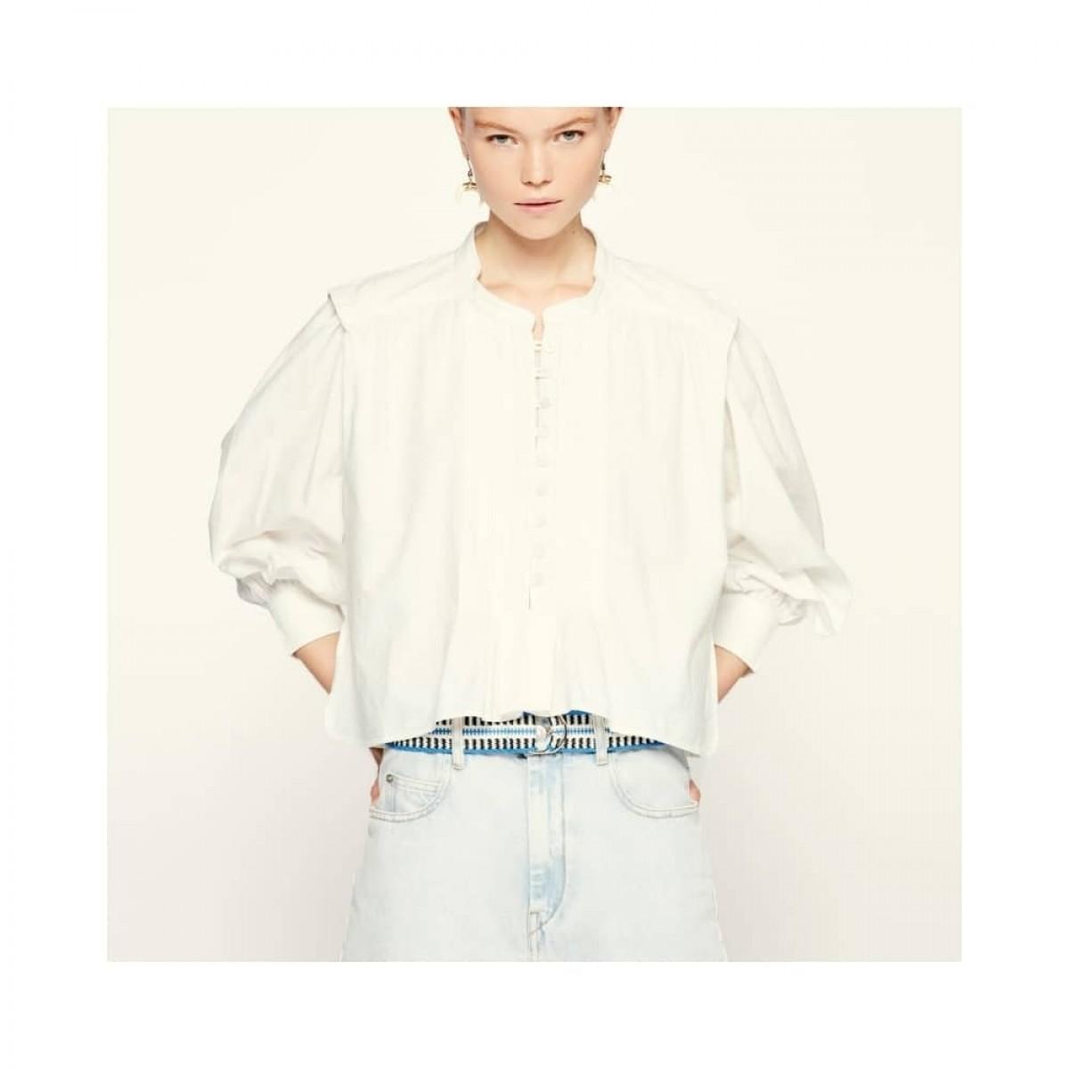 okina top - white - model front
