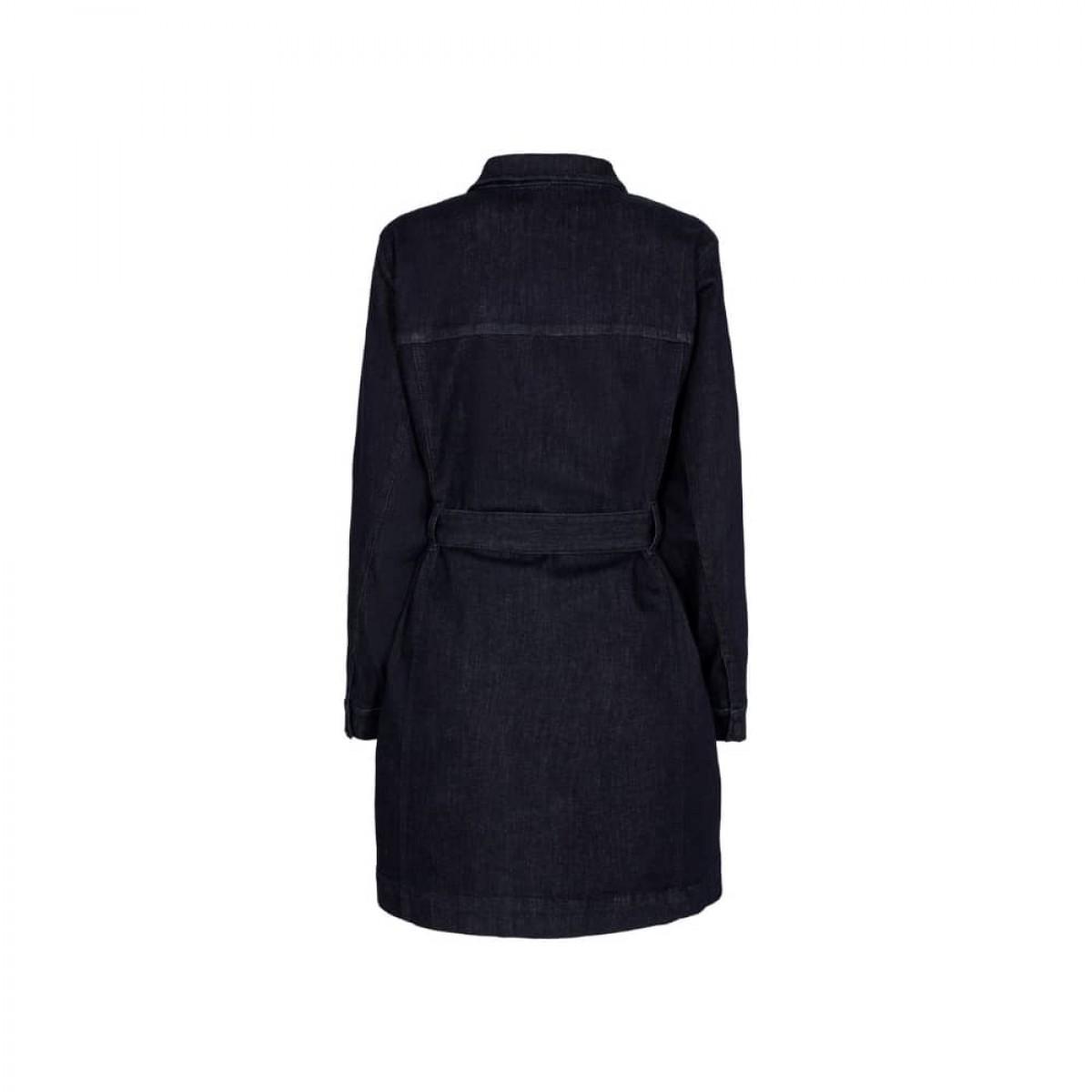 dylan denim kjole - raw indigo - ryg