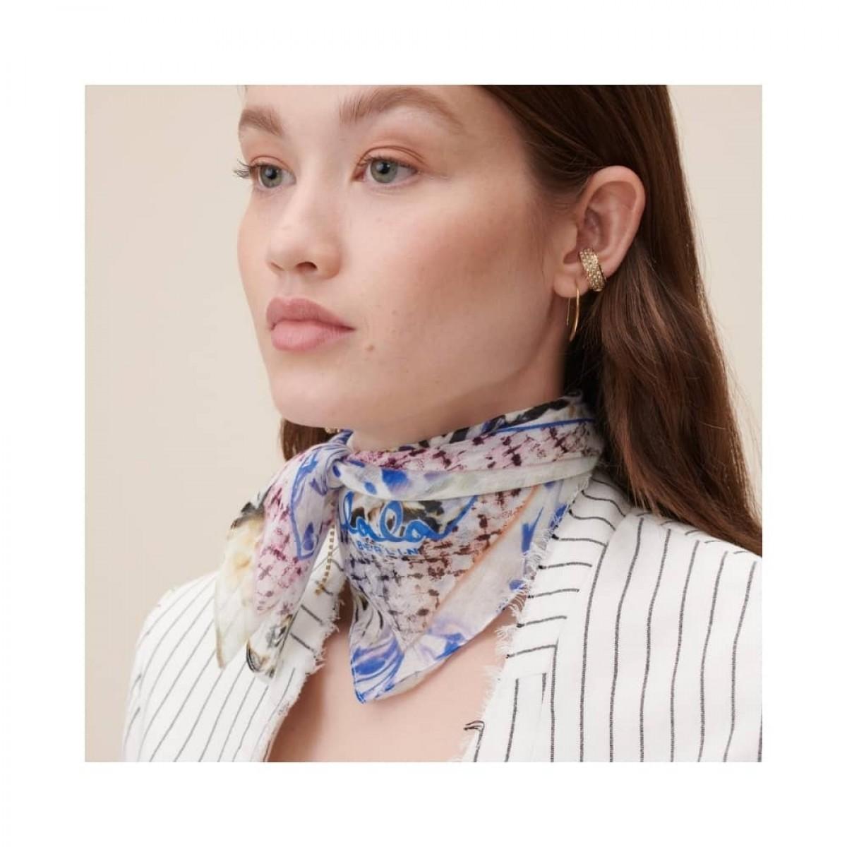 cotton voile tørklæde - butterfly blue