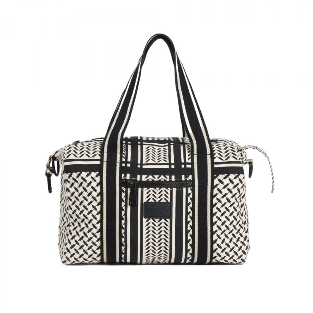 big bag muriel kufiya - off white/black - front