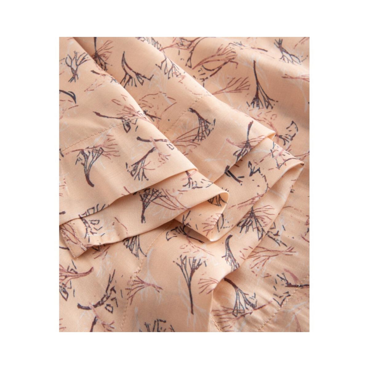 ellen kjole - straw print frappe - detalje billede