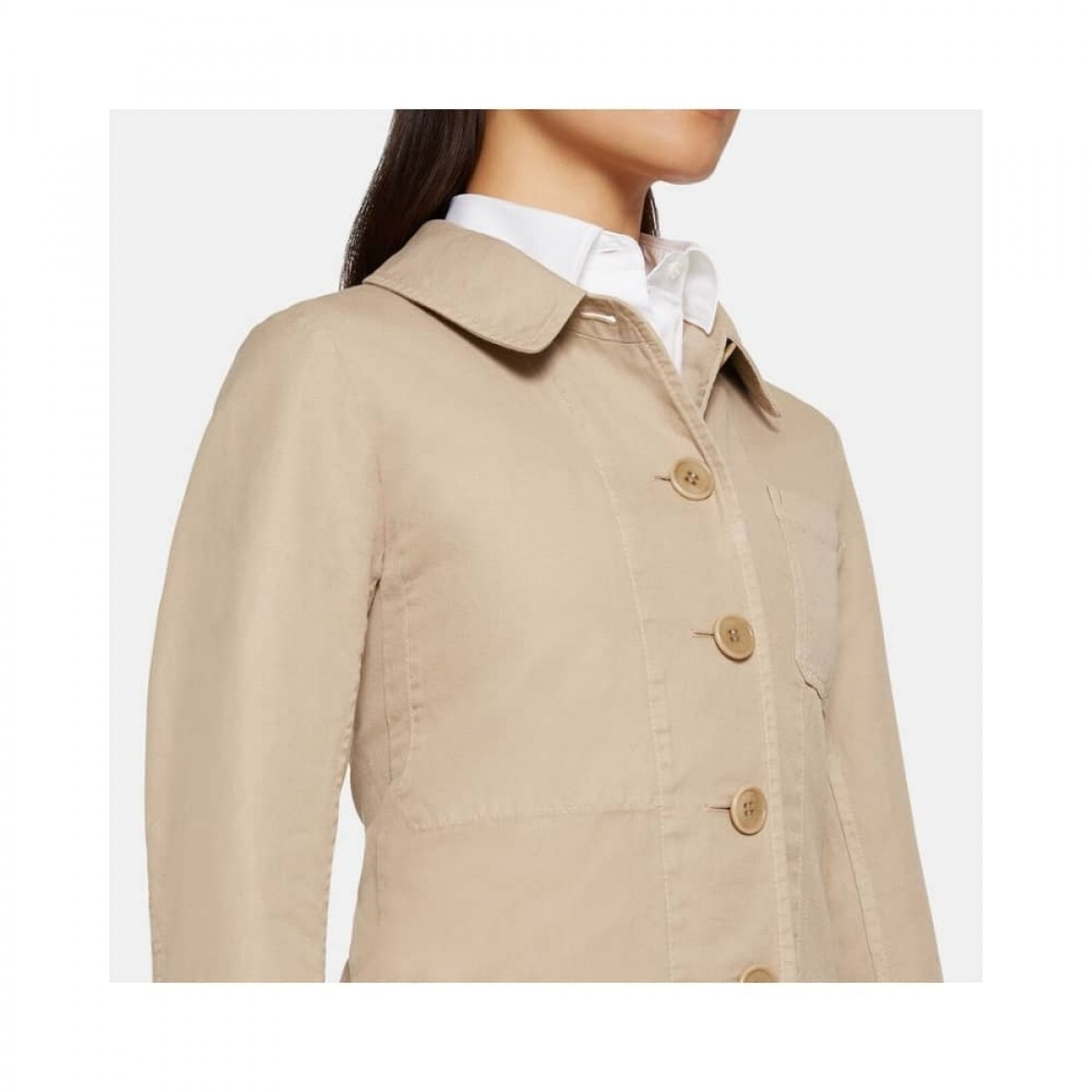 giacca donna jakke - beige - detalje billede