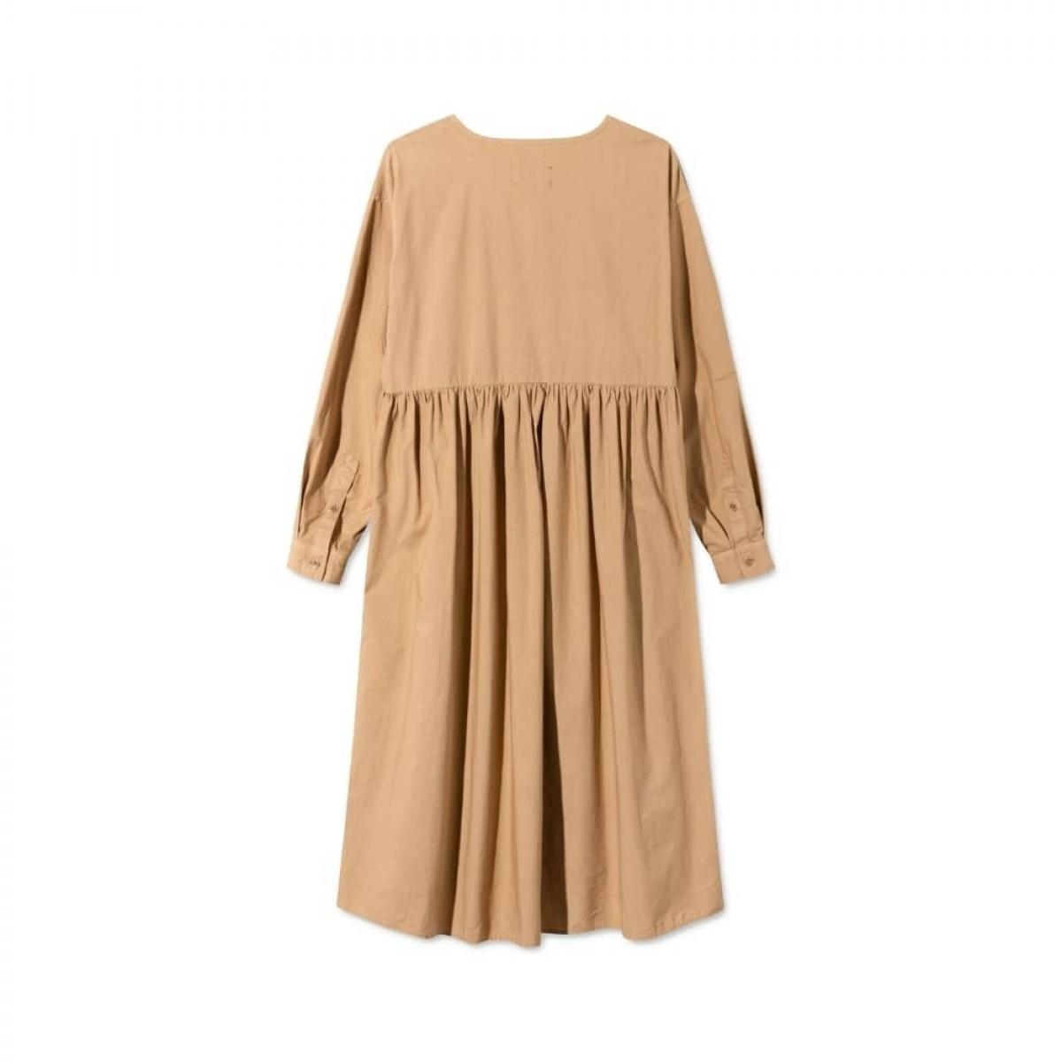 dixie kjole - light brown - ryg