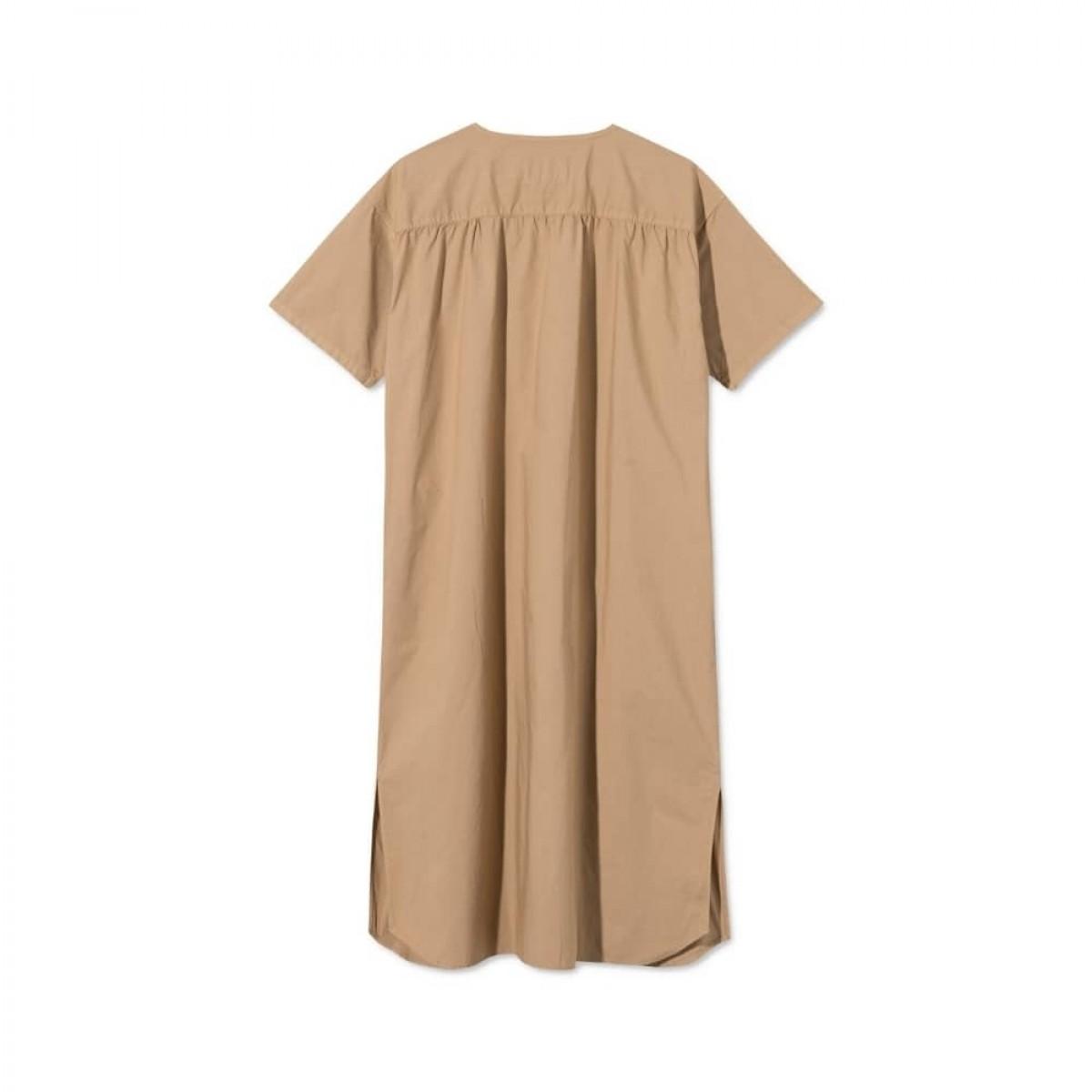 deluna kjole - light brown - ryg