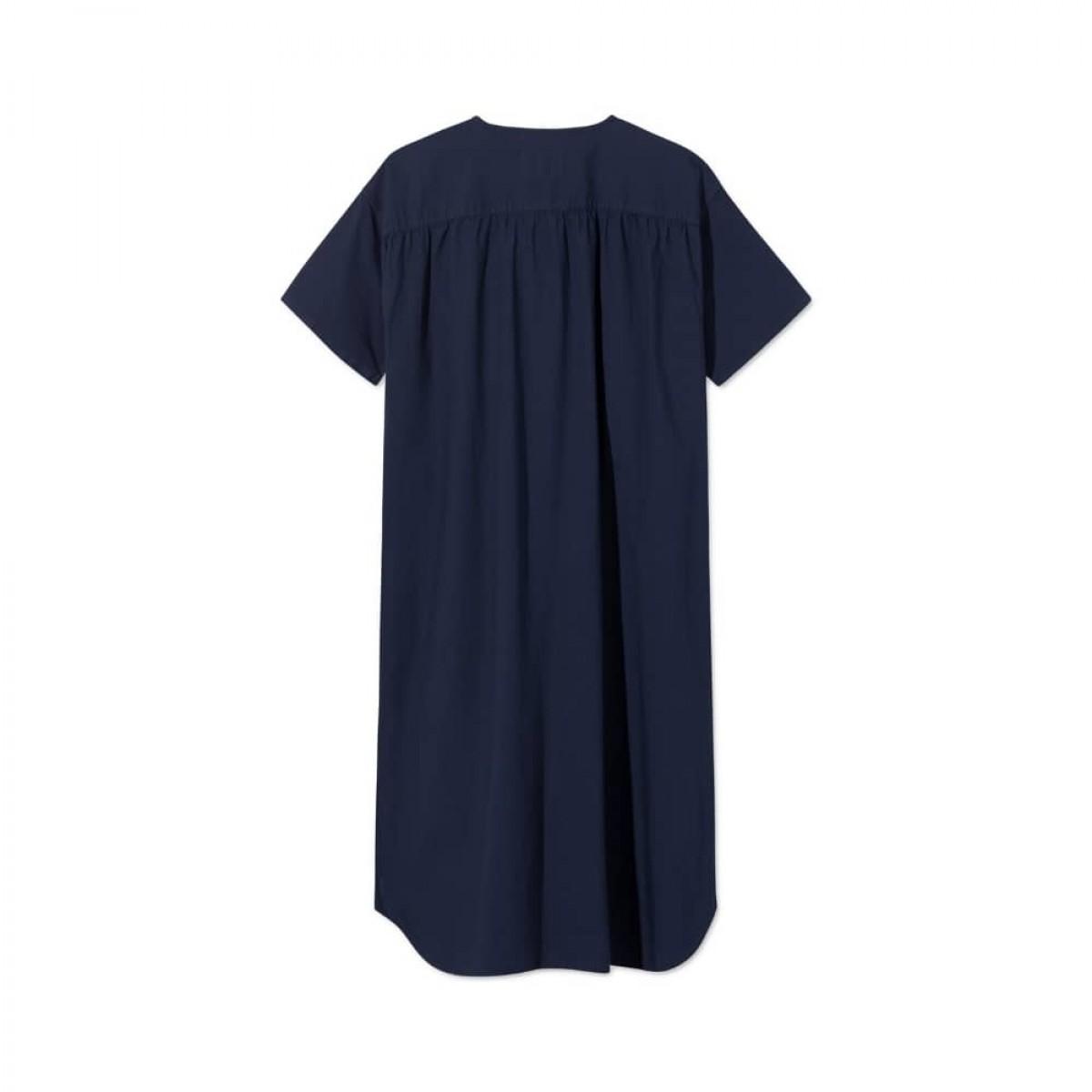 deluna kjole - dark navy - ryg