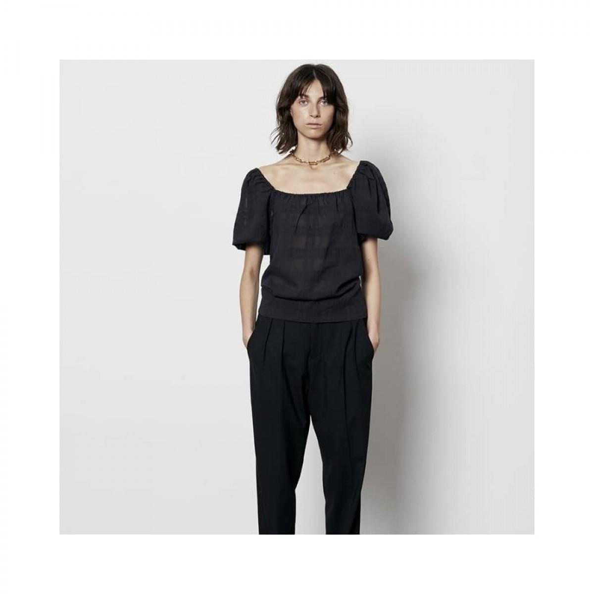 flo shirt top - black