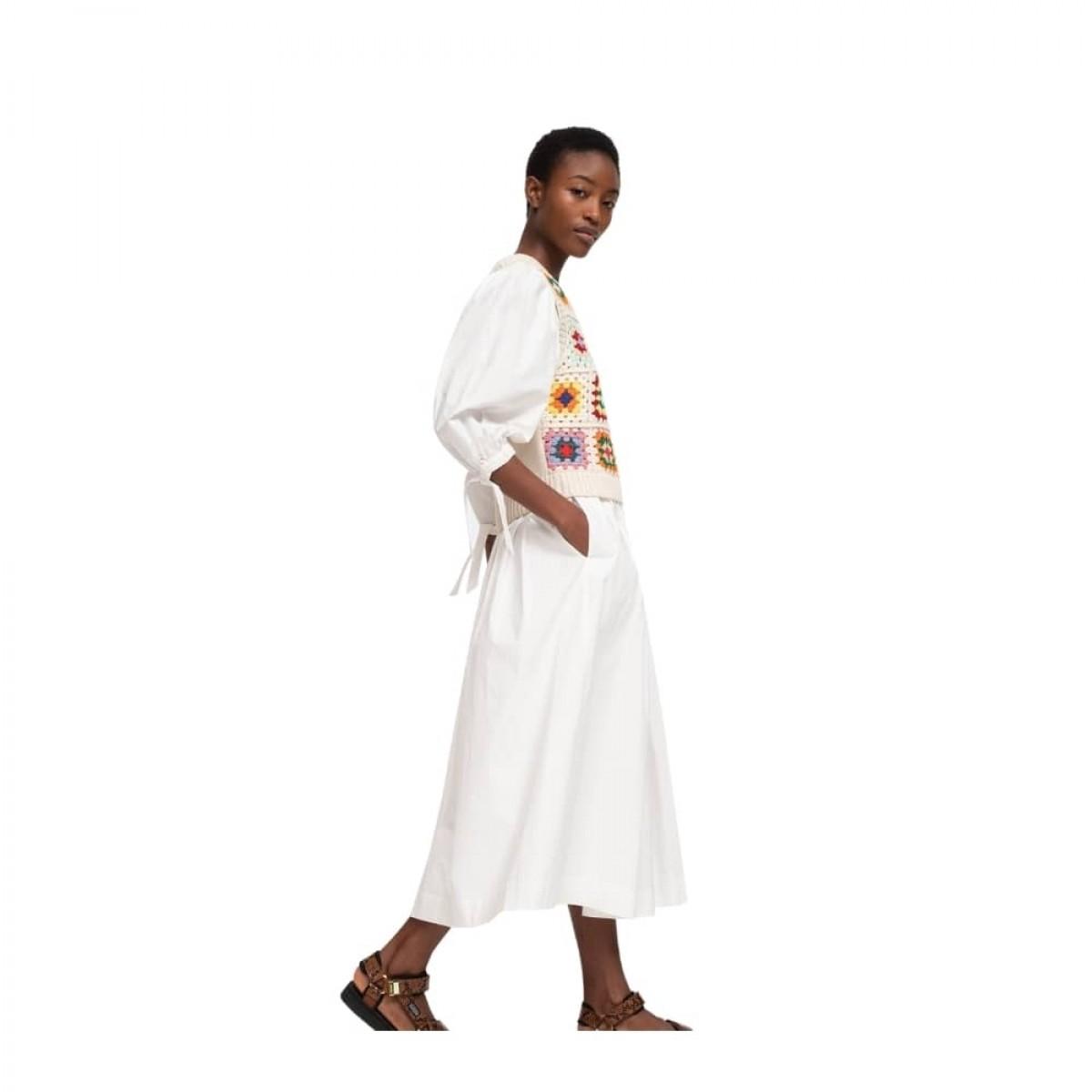 gabriela crochet kjole - multi color - model fra siden