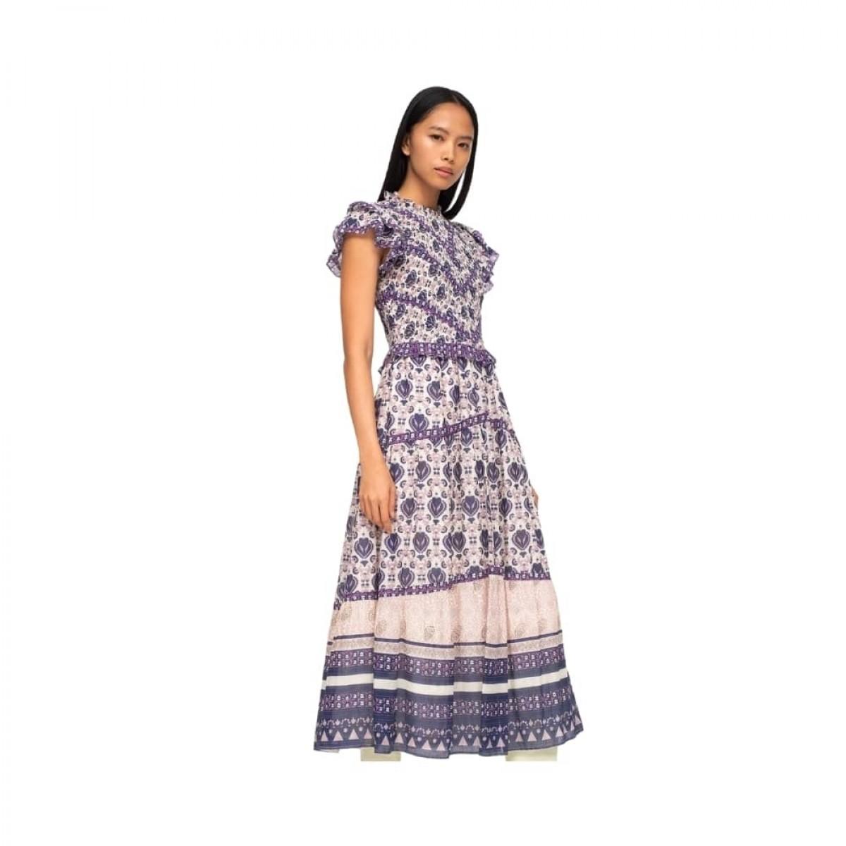brigitte border kjole - violet - model fra siden