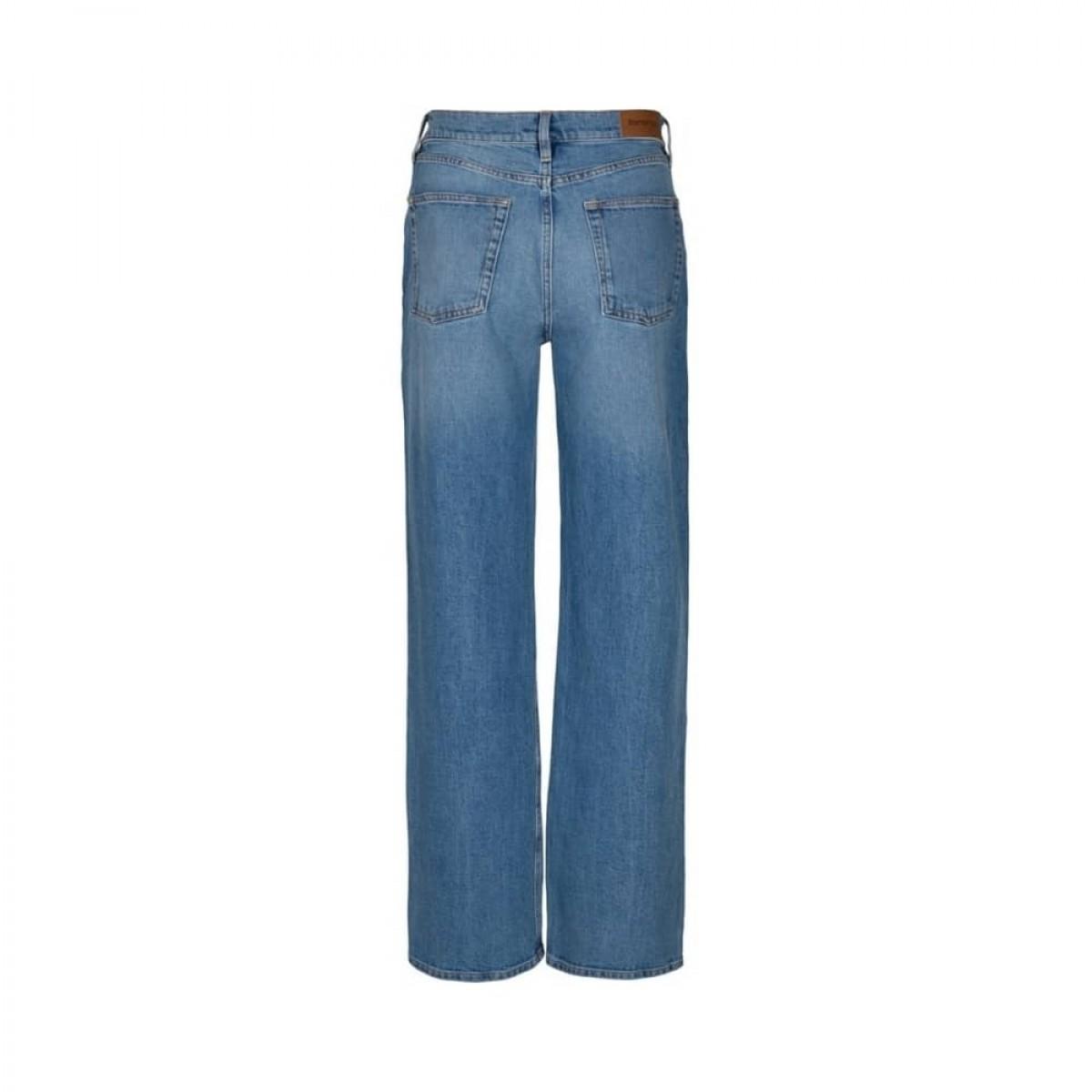 brown straight jeans - light blue - bag