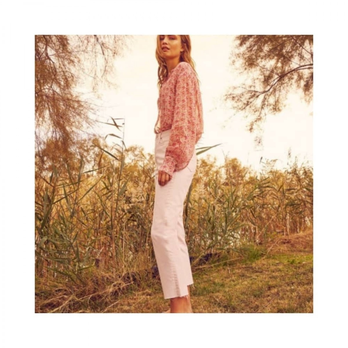 milo jeans - off white - model fra siden
