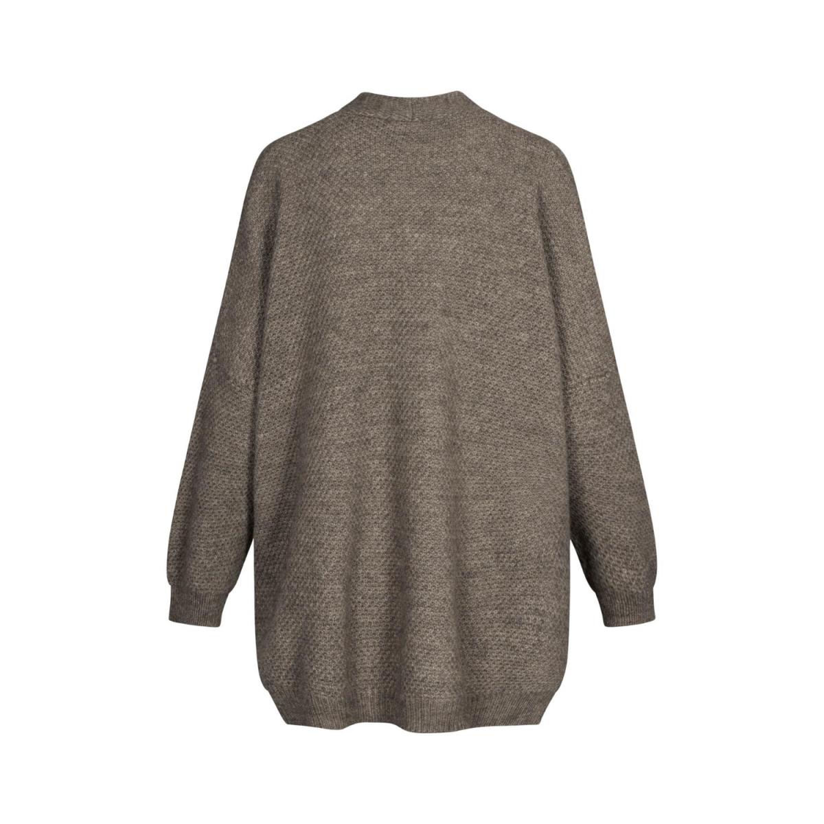 charlotte cardigan - stone grey melange - ryg